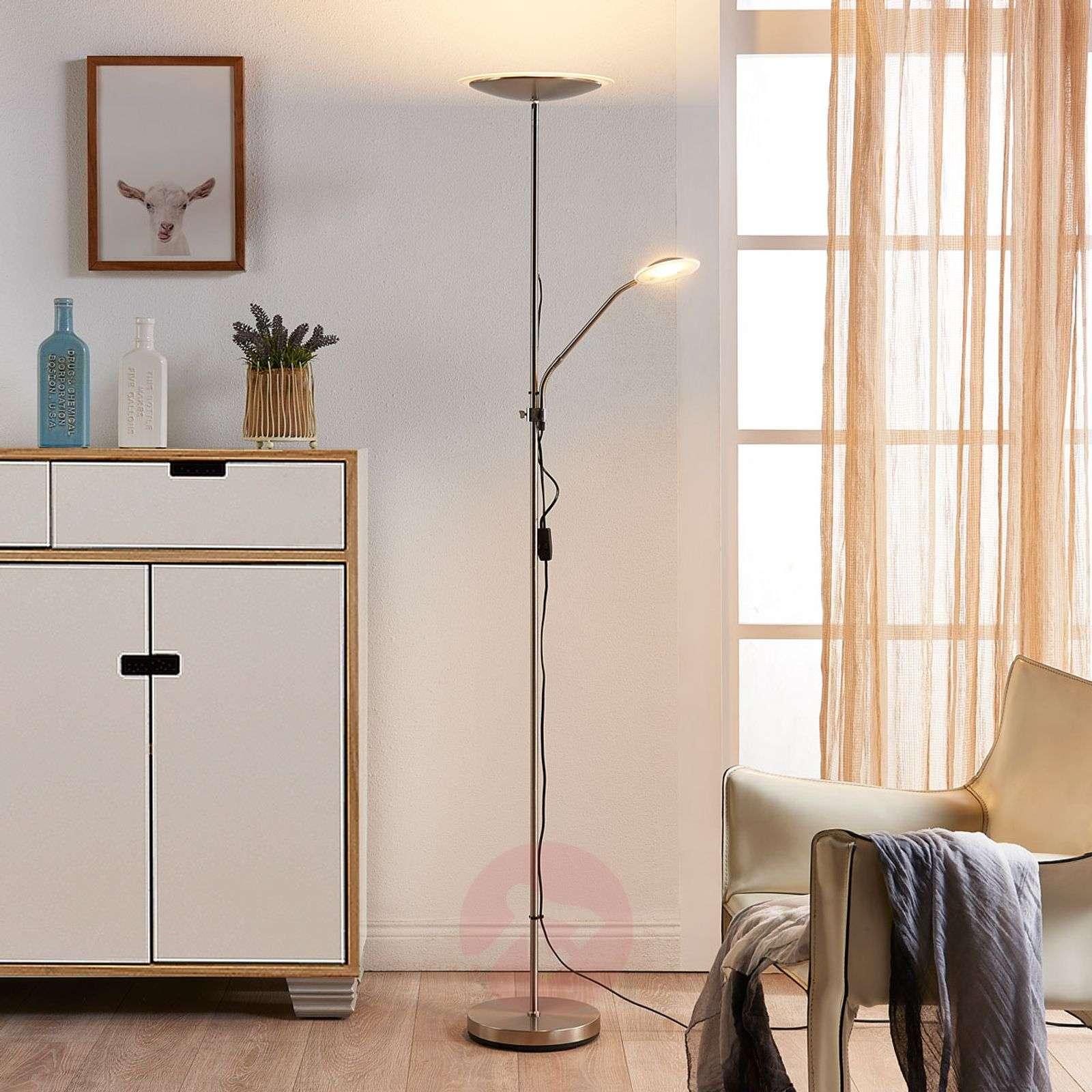 Discreet Led Floor Lamp Ela With Reading Arm Lights Ie