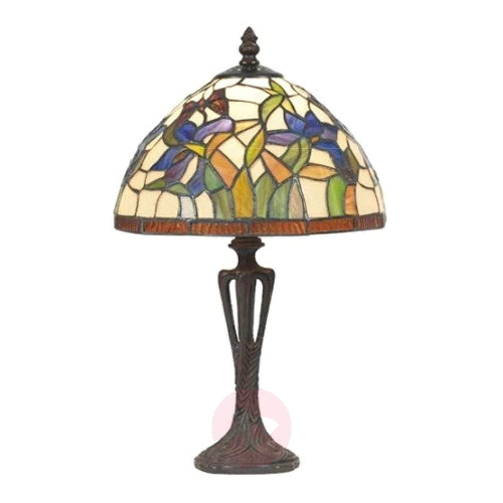 Discreet table lamp ELANDA, Tiffany-style, 41 cm-1032161-01