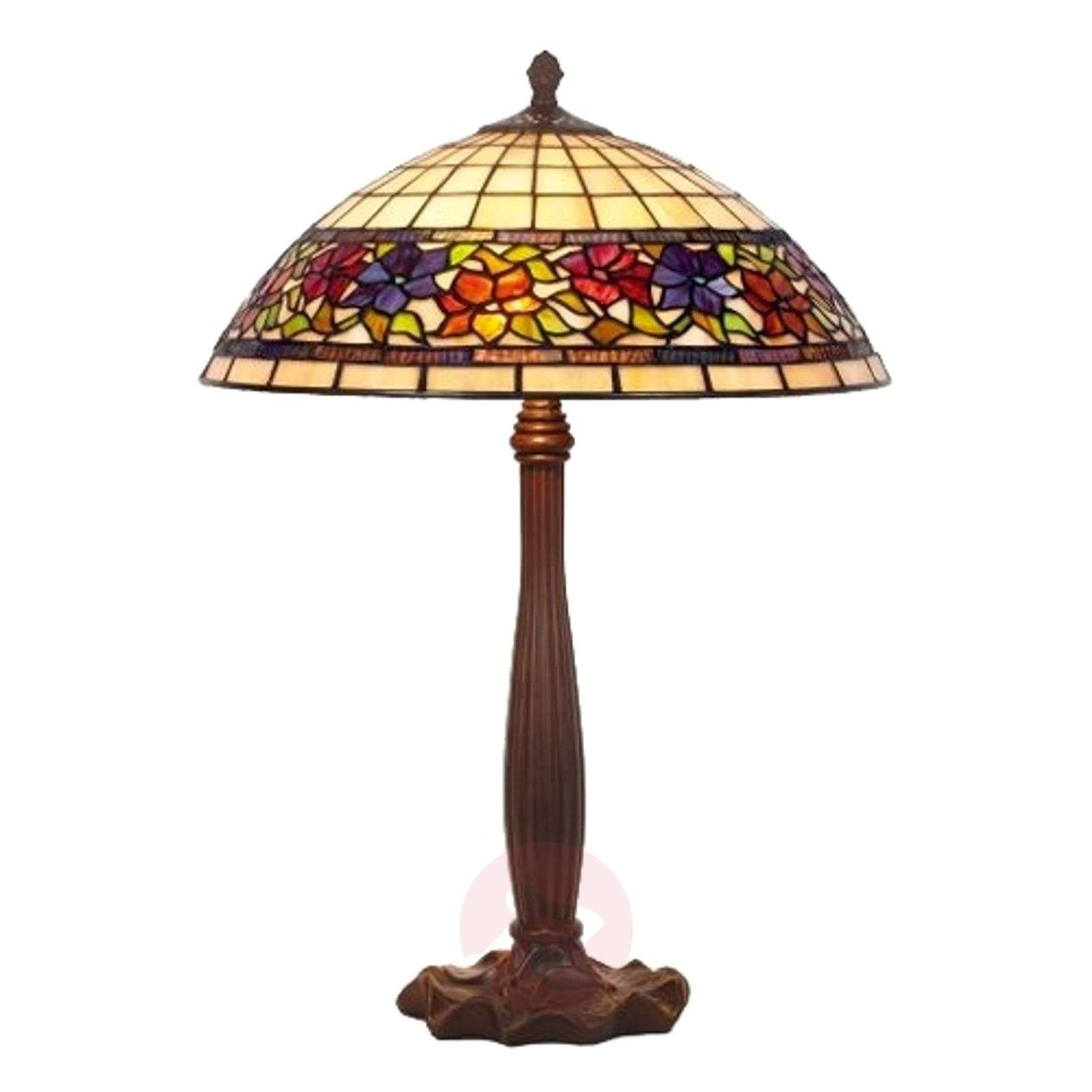 Distinctive table lamp FLORA, Tiffany-style-1032125-01