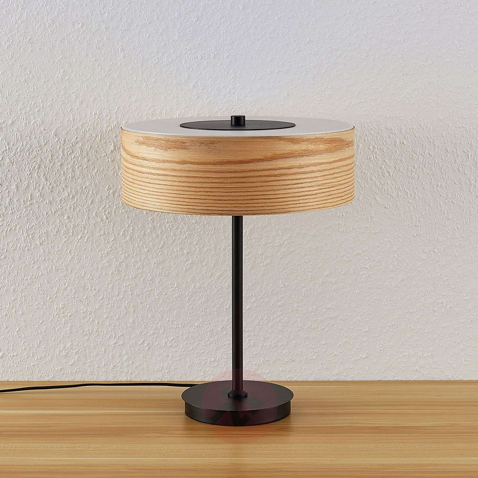 Dominic Wooden Table Lamp With A Round Shape