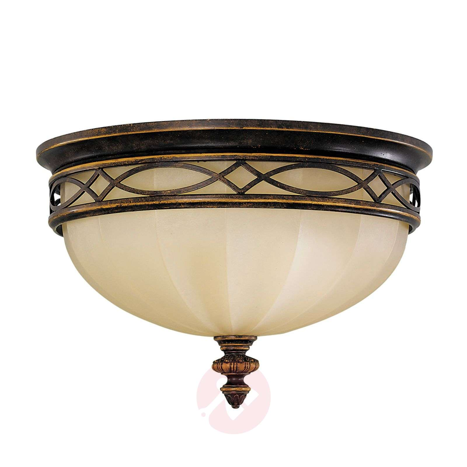 Drawing Room Ceiling Light with Scavo Glass-3048239-02