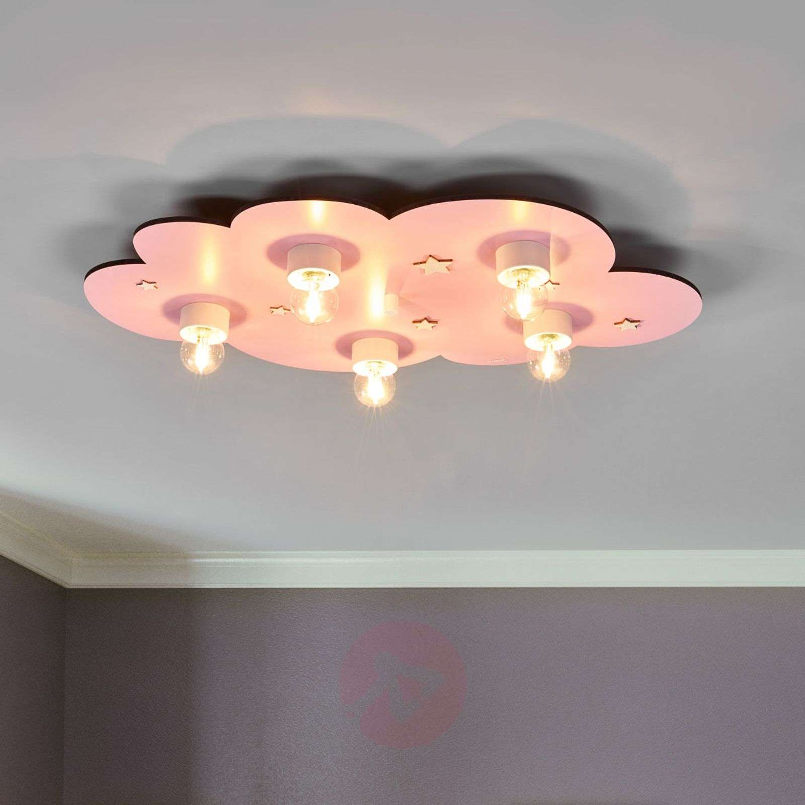 Dreamy Pink Cloud Childrens Ceiling Light 9606068 01