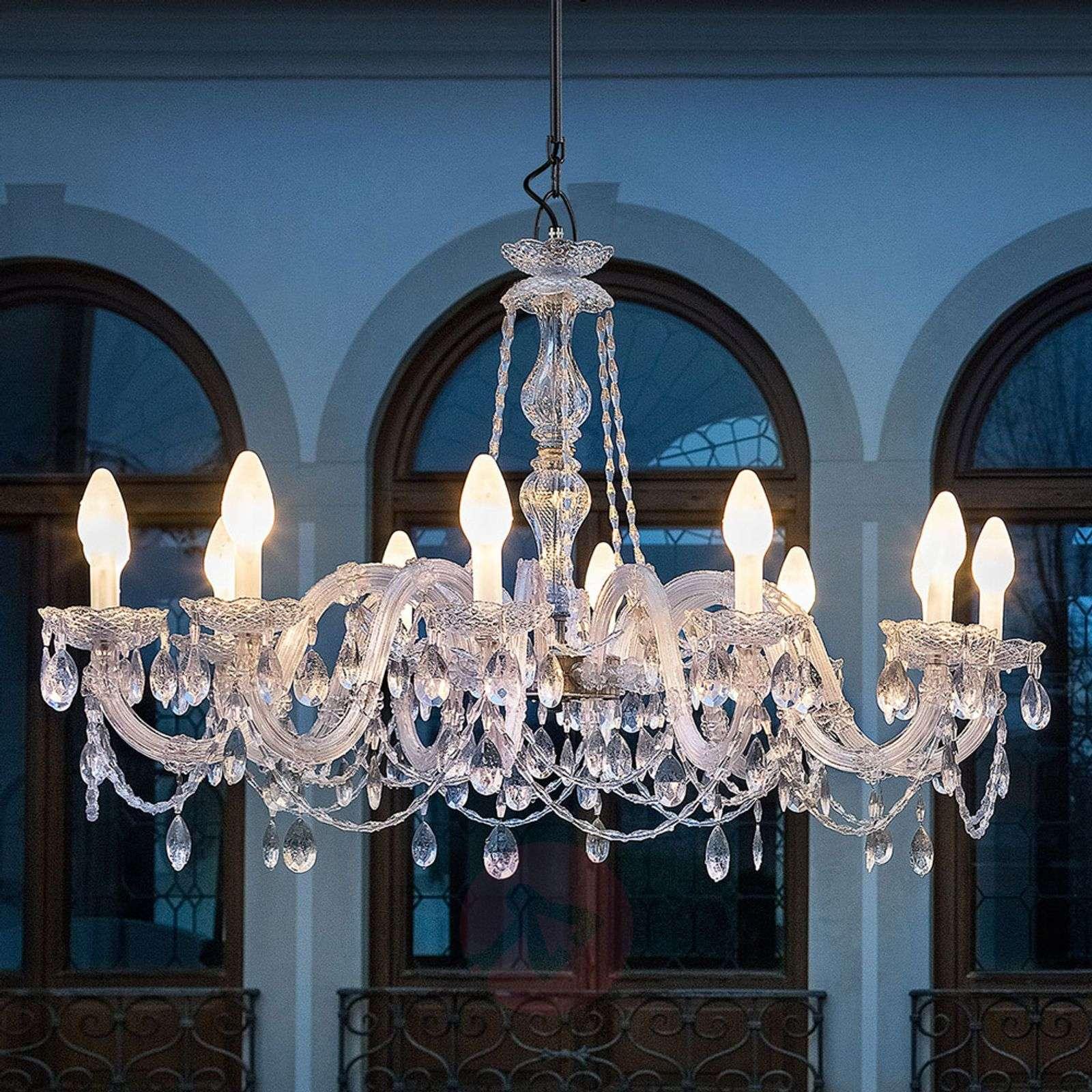 Drylight s12 12 bulb outdoor led chandelier lights aloadofball Gallery