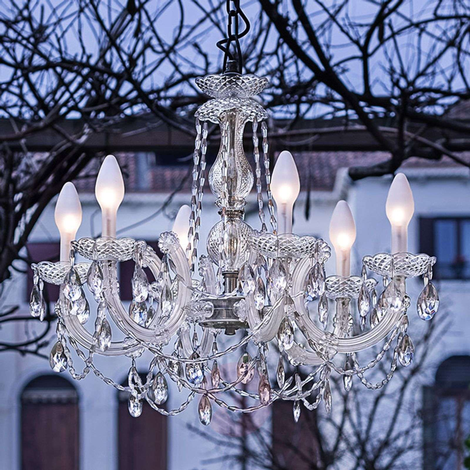 Drylight s6 6 bulb outdoor led chandelier lights aloadofball Gallery