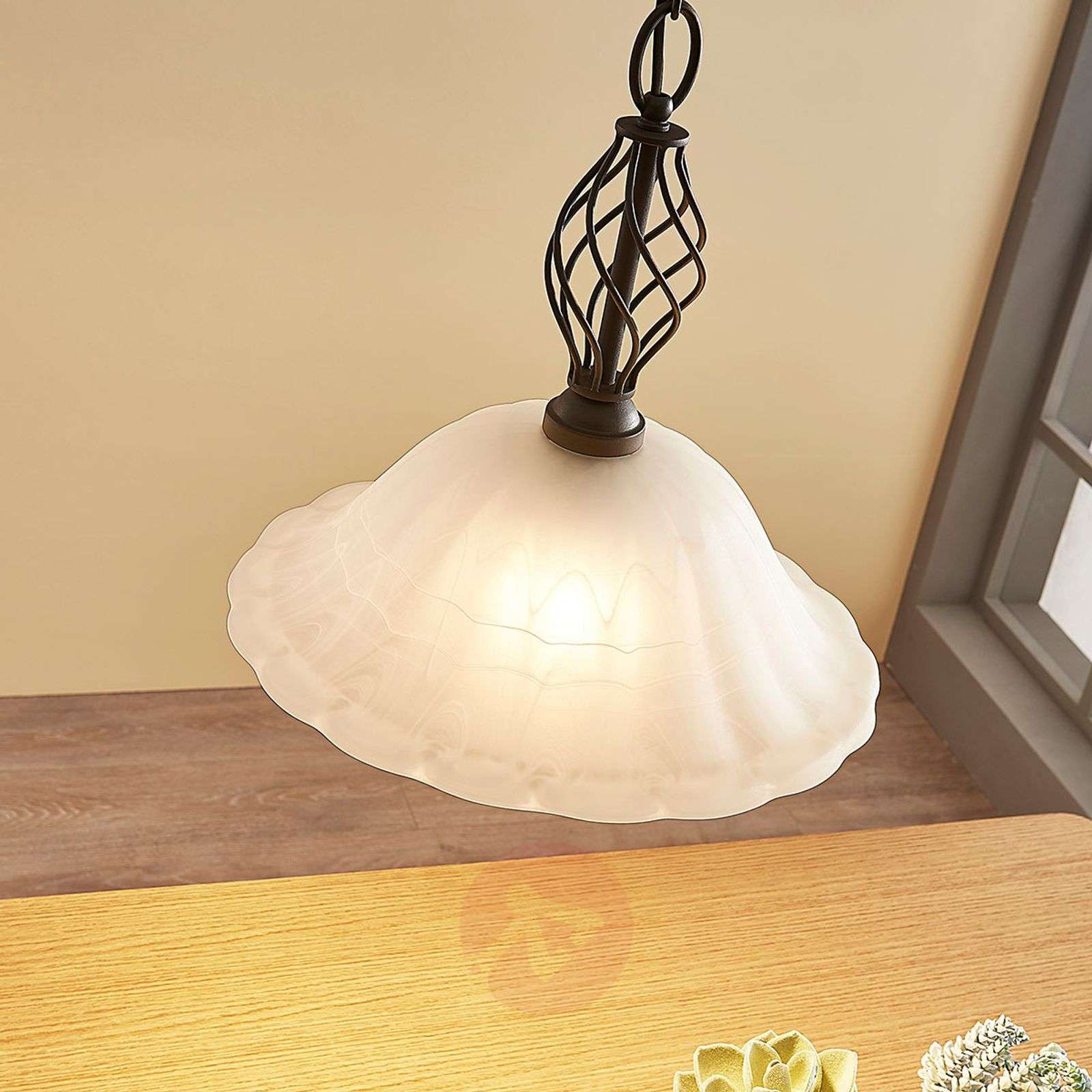 Dunja country house pendant lamp with an E27 LED-9620270-01