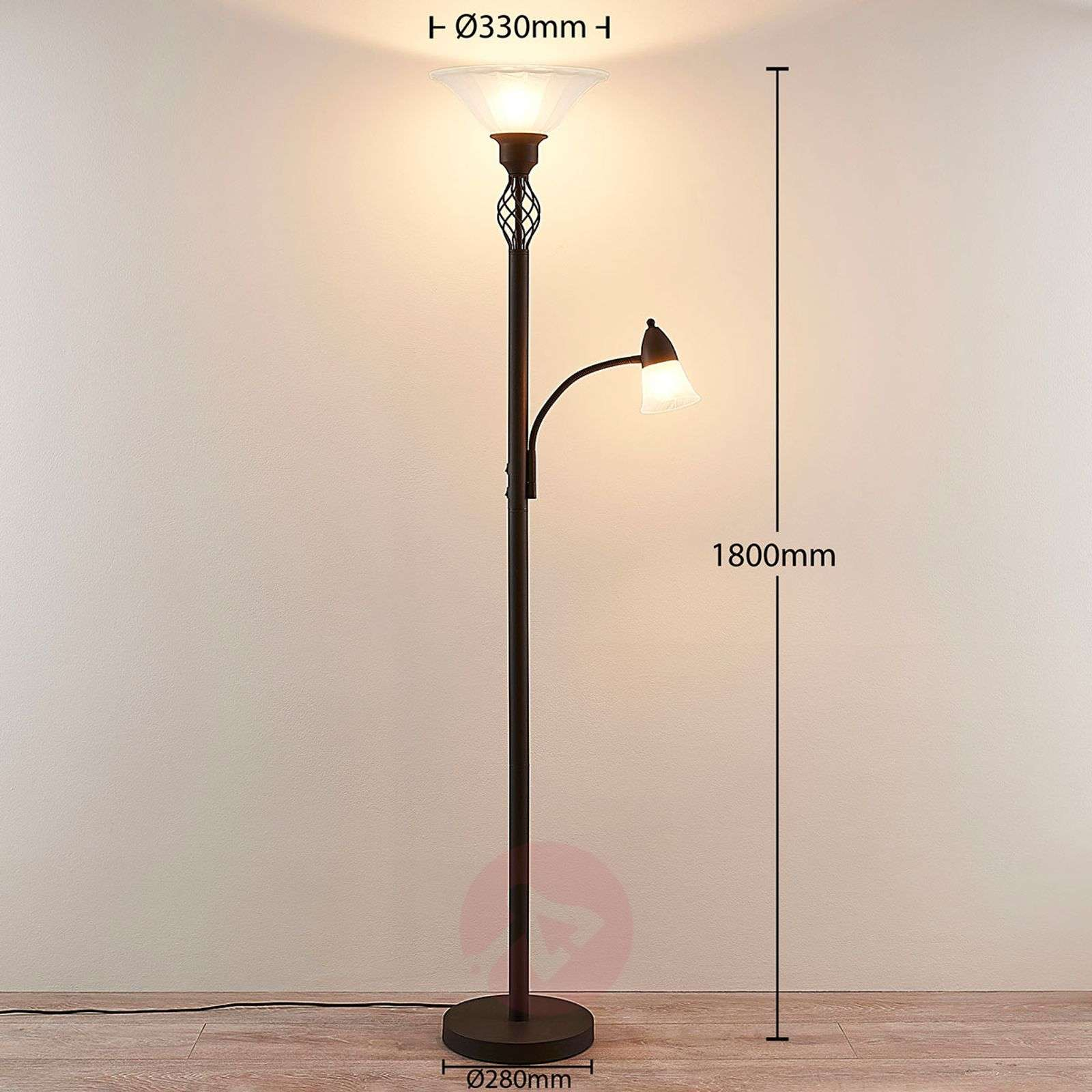Dunja LED uplighter with a reading light-9620273-033