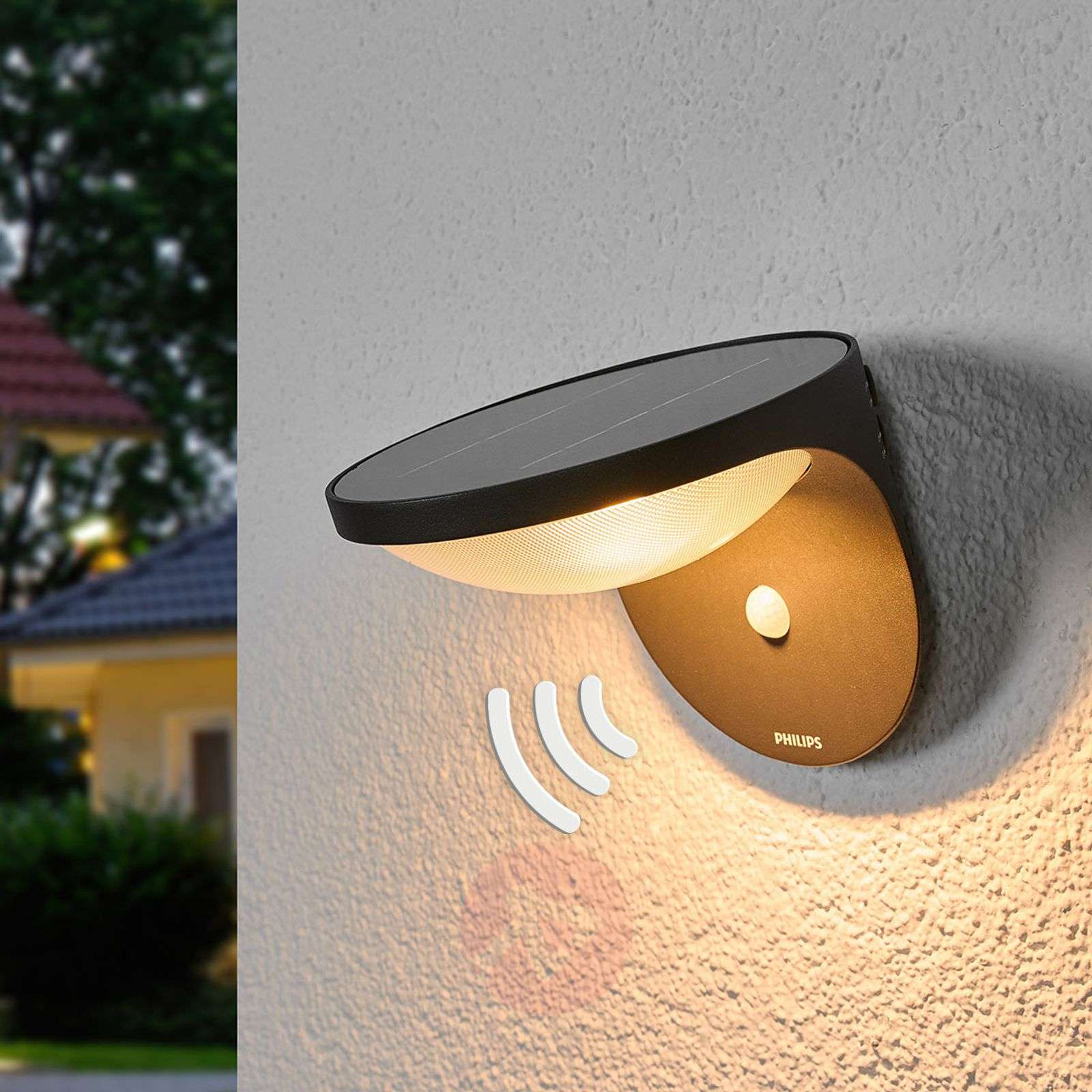 Dusk LED Outside Wall Light with Motion Detector-7531549-02