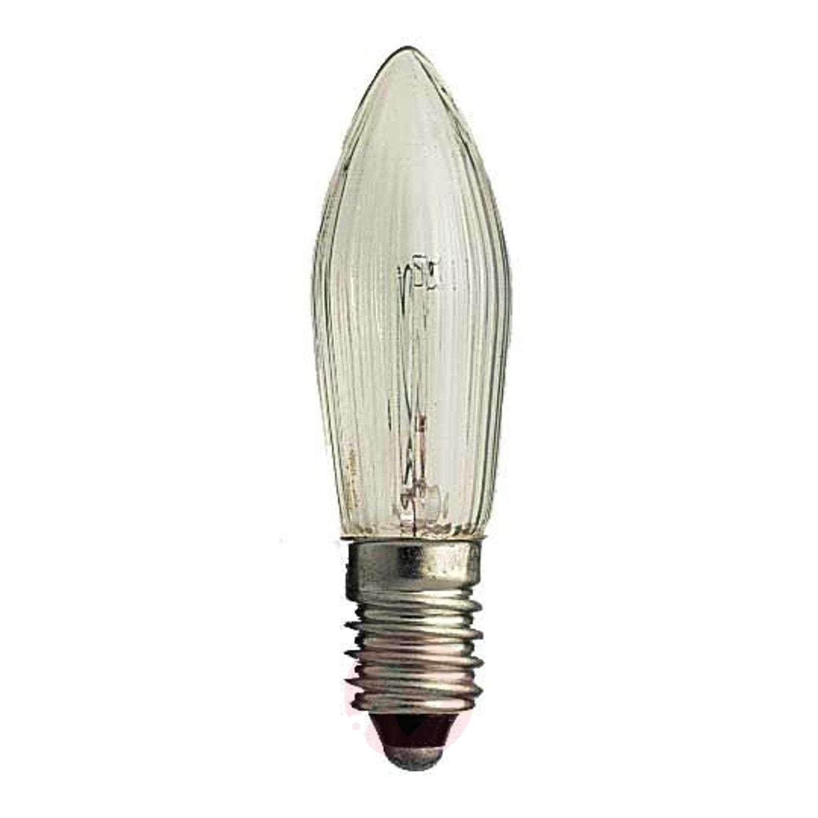 E10 3W 55V bulb, pack of 3, candle shape_1522321_1
