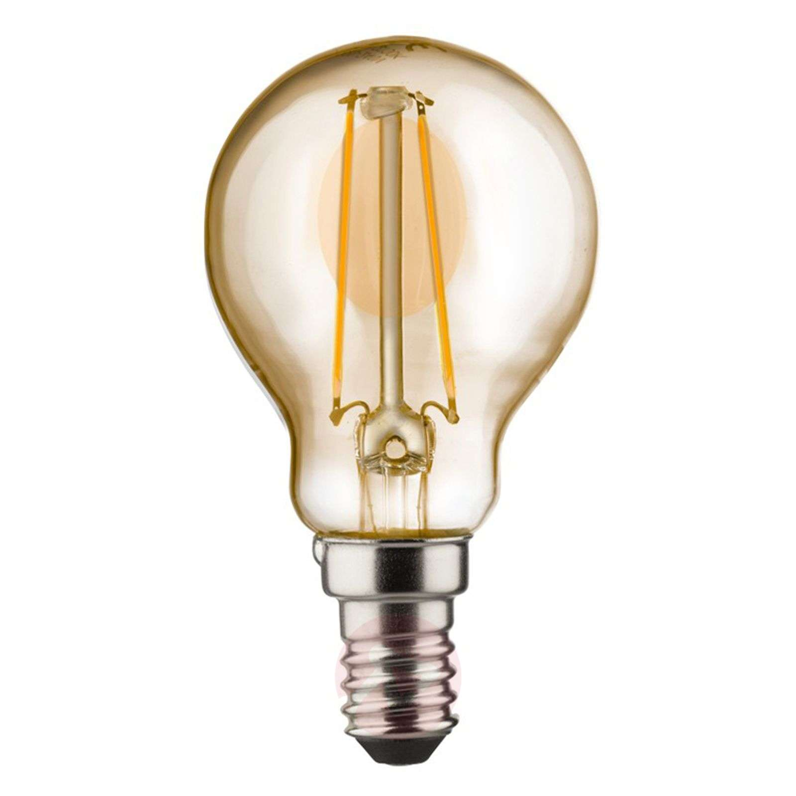 E14 2 W 820 LED golf ball bulb, gold-6520237-01