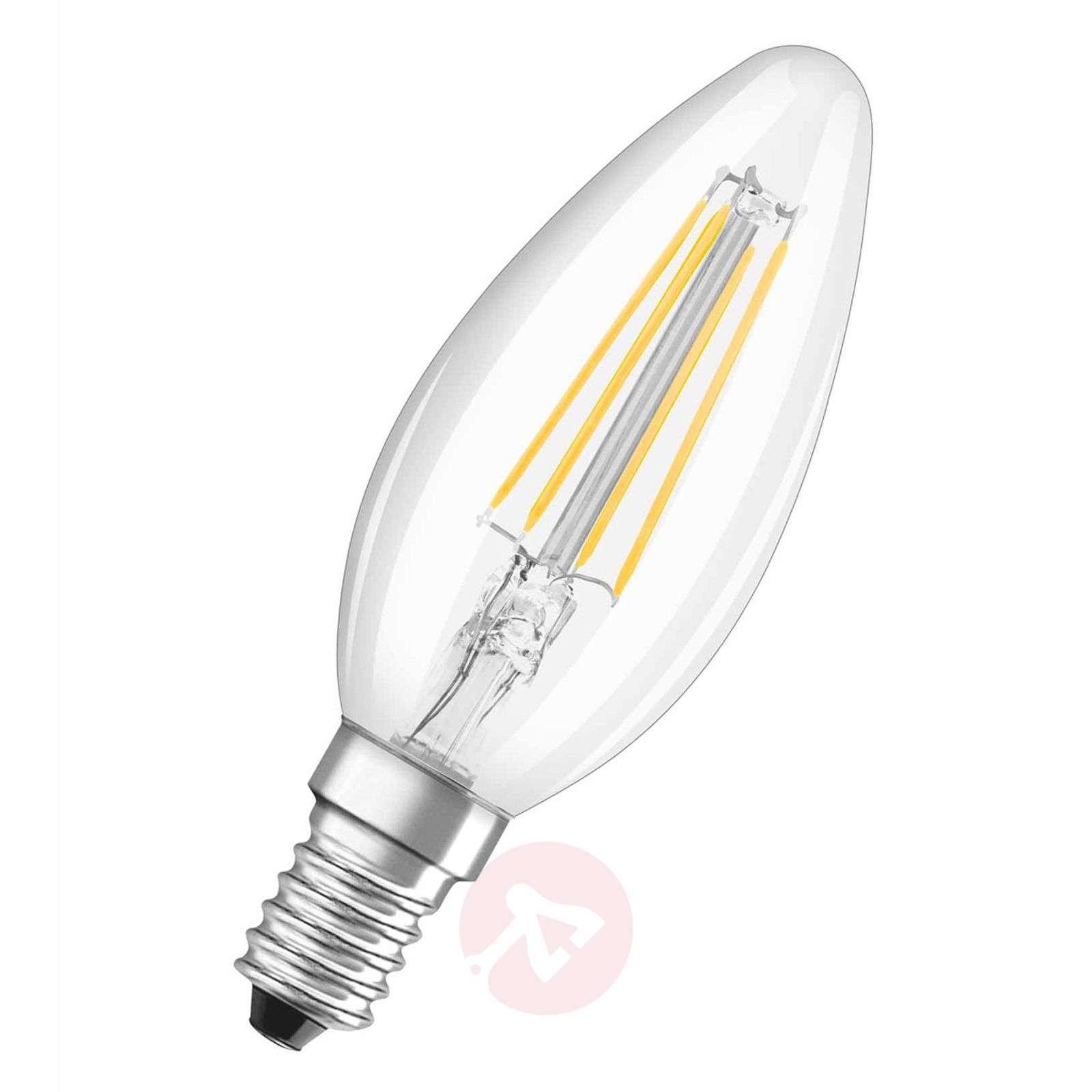 E14 4 W 827 filament LED candle bulb, set of two-7260966-01