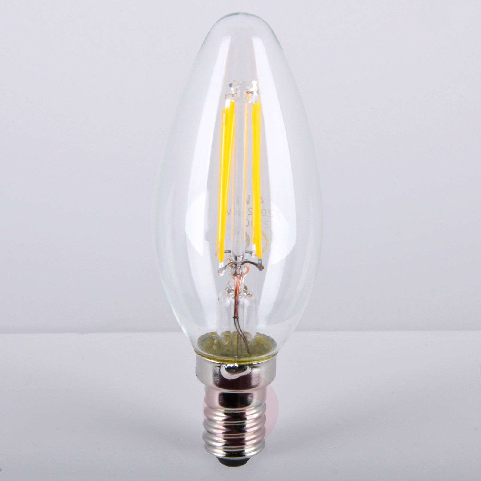 E14 4W 827 LED candle bulb, clear-9945103-01