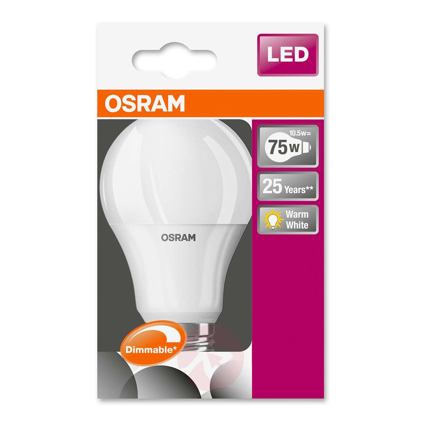 E27 10,5W 827 LED bulb Superstar, dimmable-7260747-02