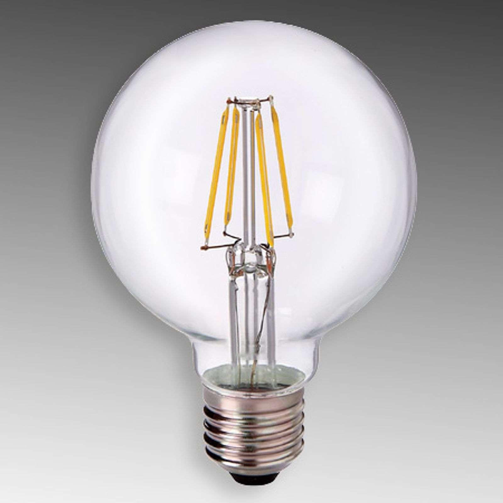 E27 5 W 827 LED globe G80, clear-8530166-01