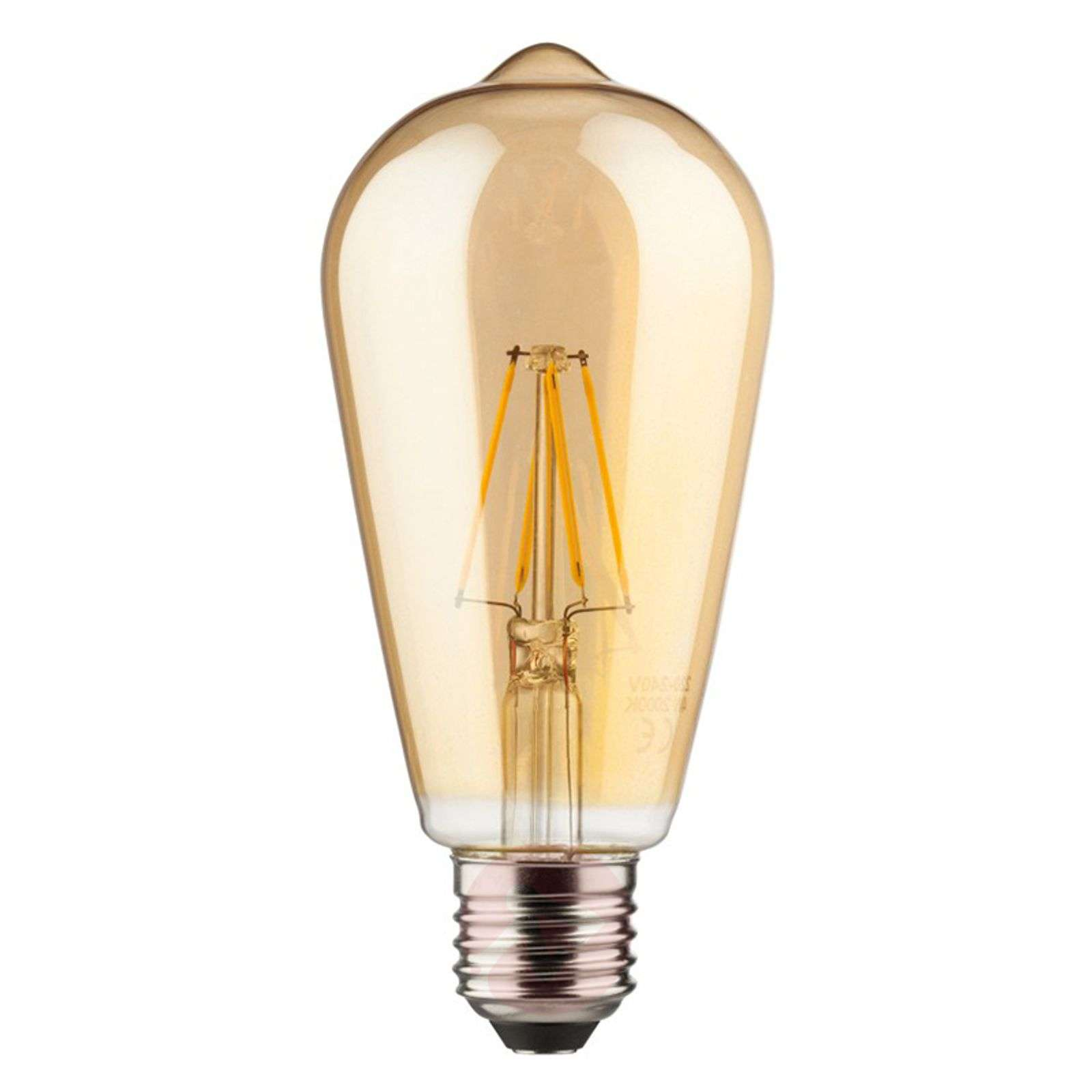 E27 6 W 820 LED rustical bulb, gold-6520241-01