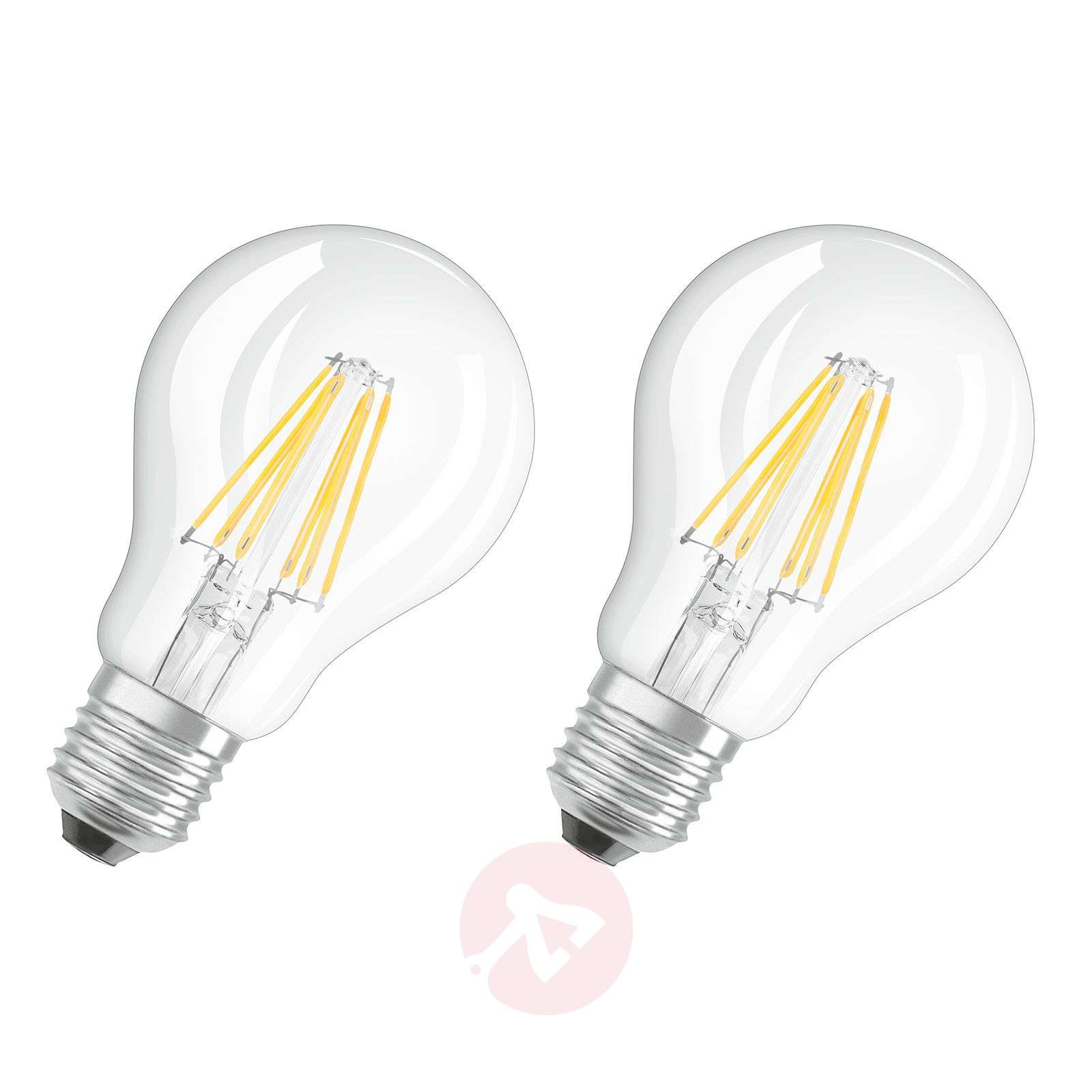 E27 7W 827 filament LED bulb, set of two-7260965-03