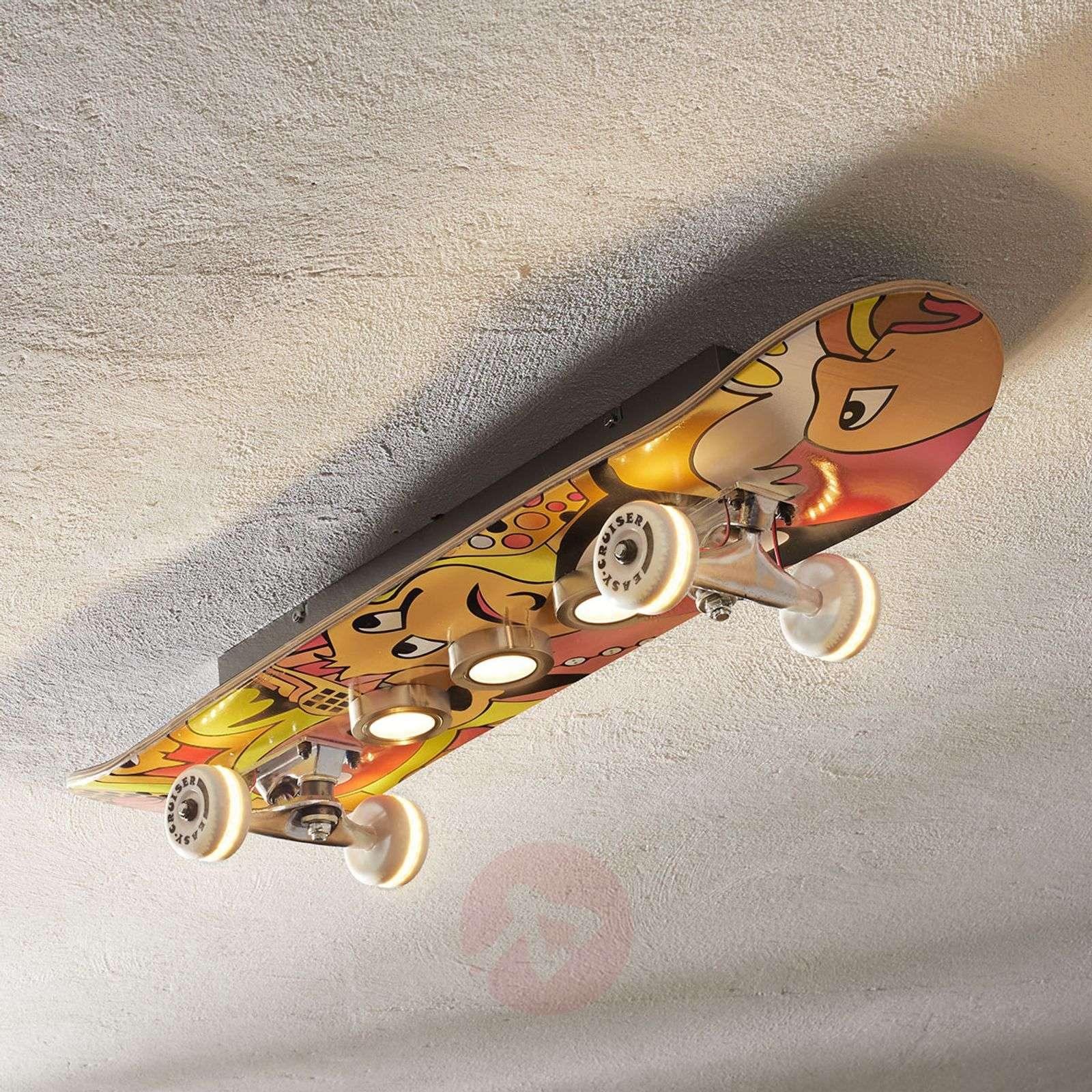 Easy Cruiser LED ceiling light skateboard look-3025316-01