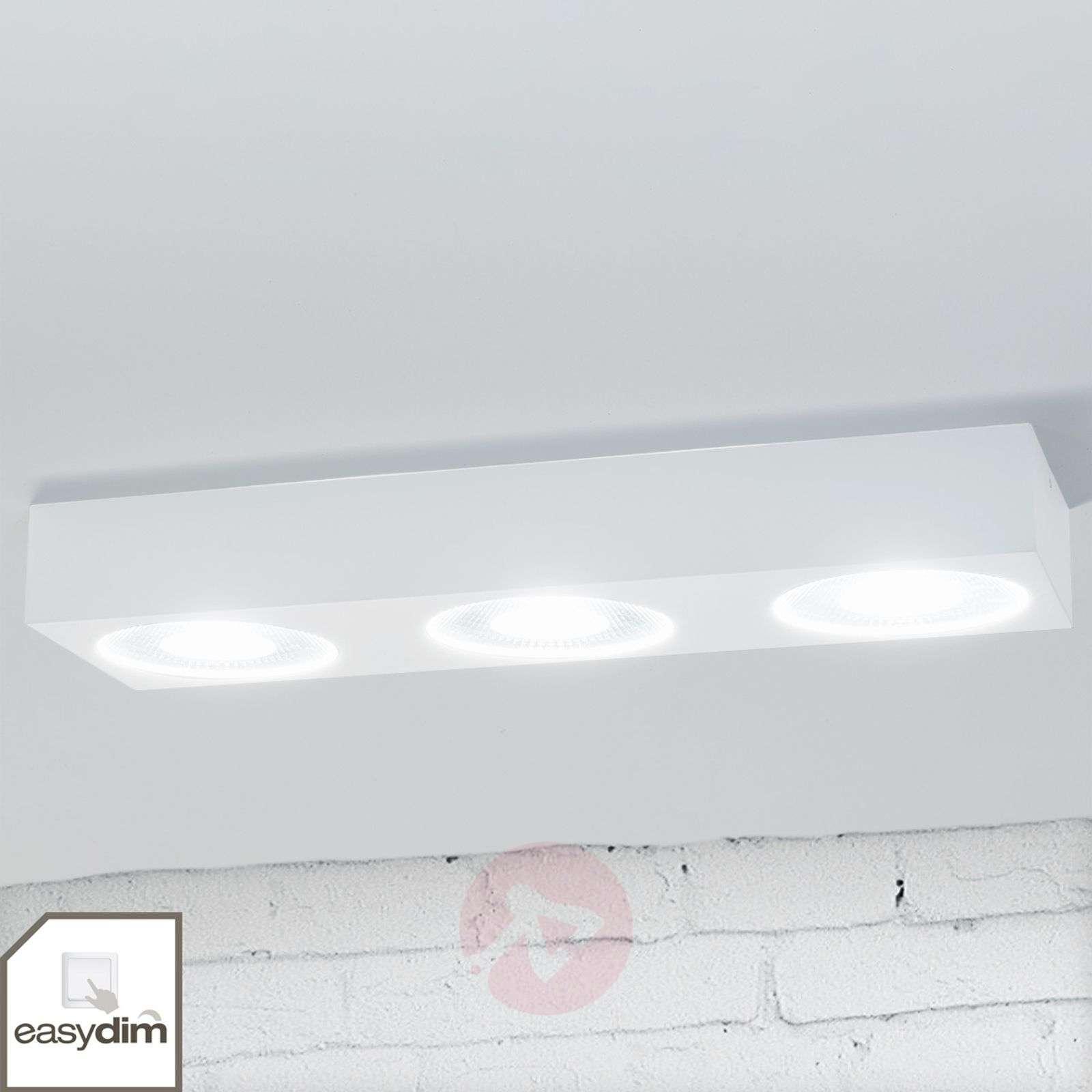 Easydim LED ceiling light Sonja, white, three-bulb-1558148-09