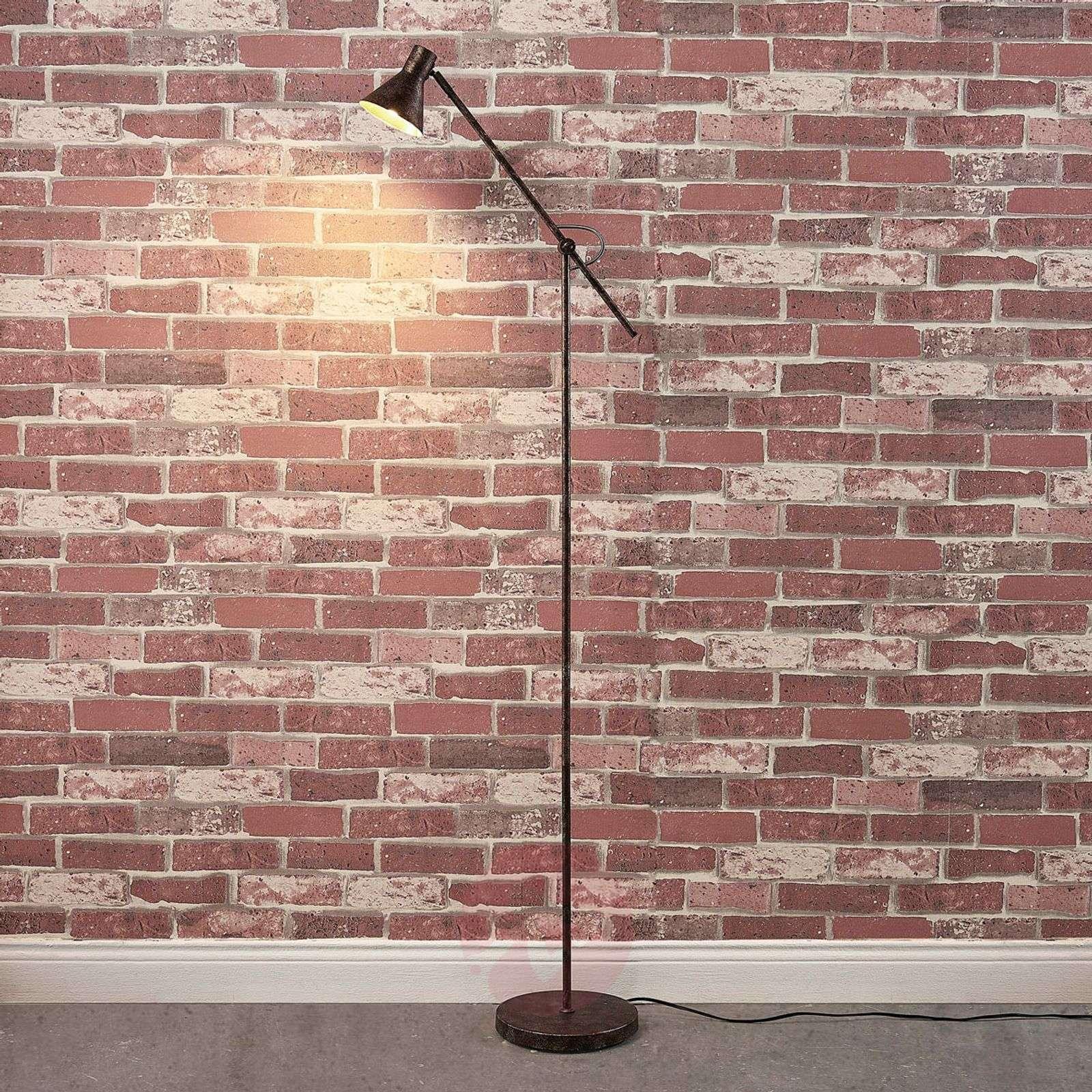 Easydim Zera LED floor lamp, rust and golden-9621545-02
