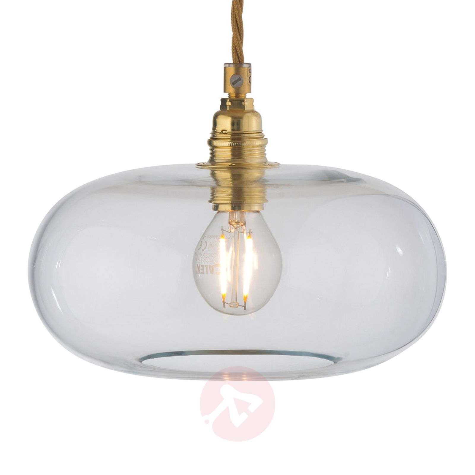 EBB and FLOW Horizon glass pendant light clear-3064001X-01