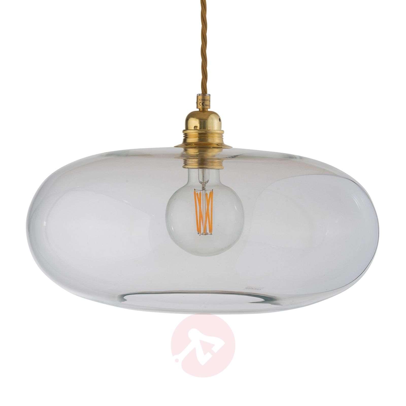 EBB and FLOW Horizon glass pendant light clear-3064001X-01