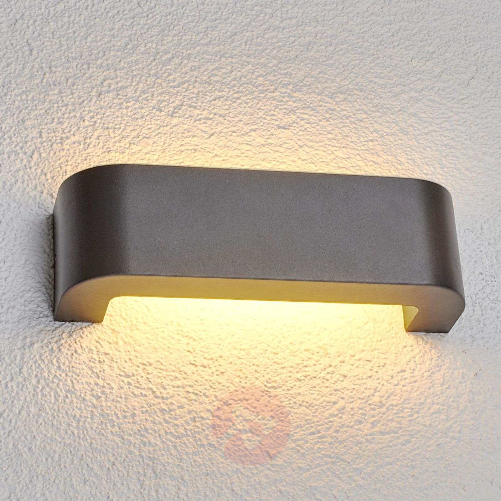 Eberta LED outdoor wall light in graphite grey-9647008-01