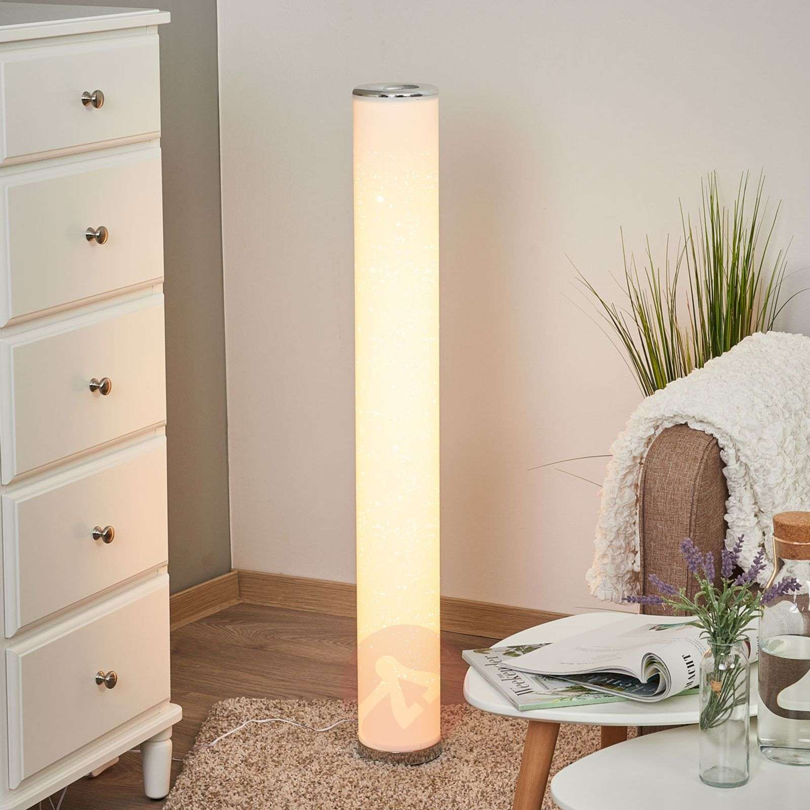 Ecris LED floor lamp with a glitter effect-9945251-01