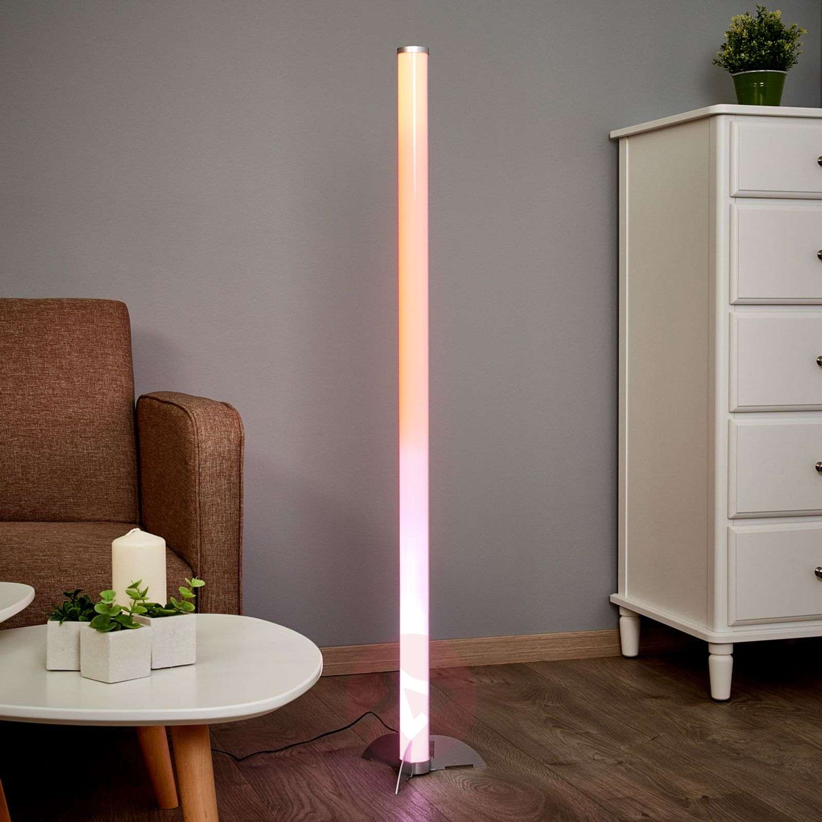 Effective LED floor lamp Ilani RGB-4014718-03