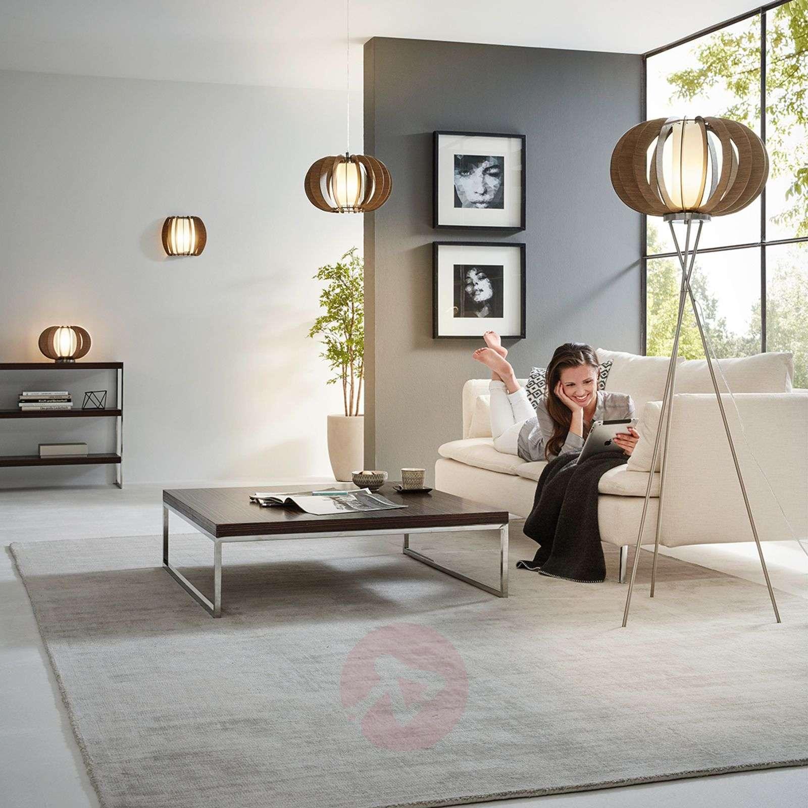 Effective Stellato floor lamp with wooden slats-3031907-01