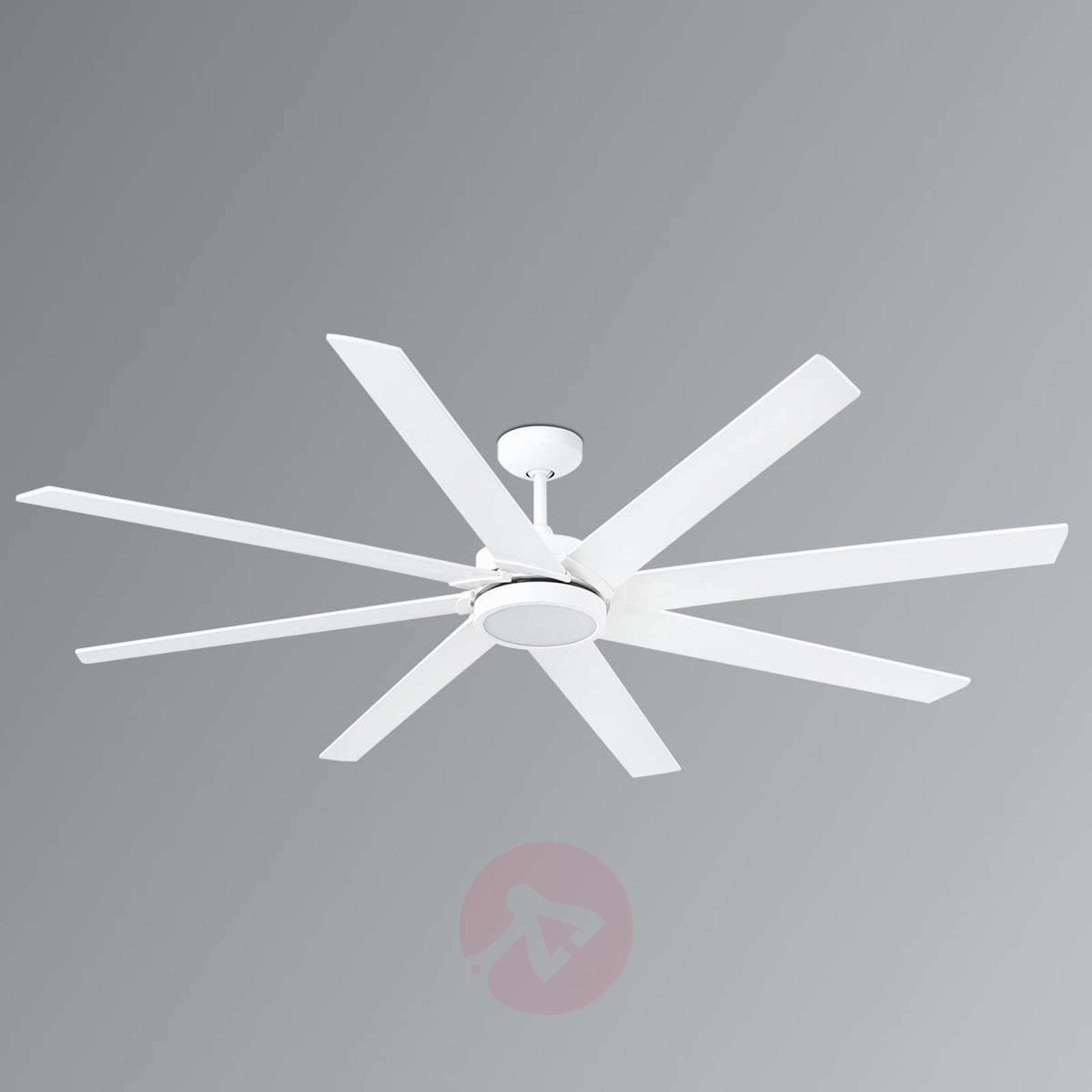 Eight Blade Led Ceiling Fan Century White