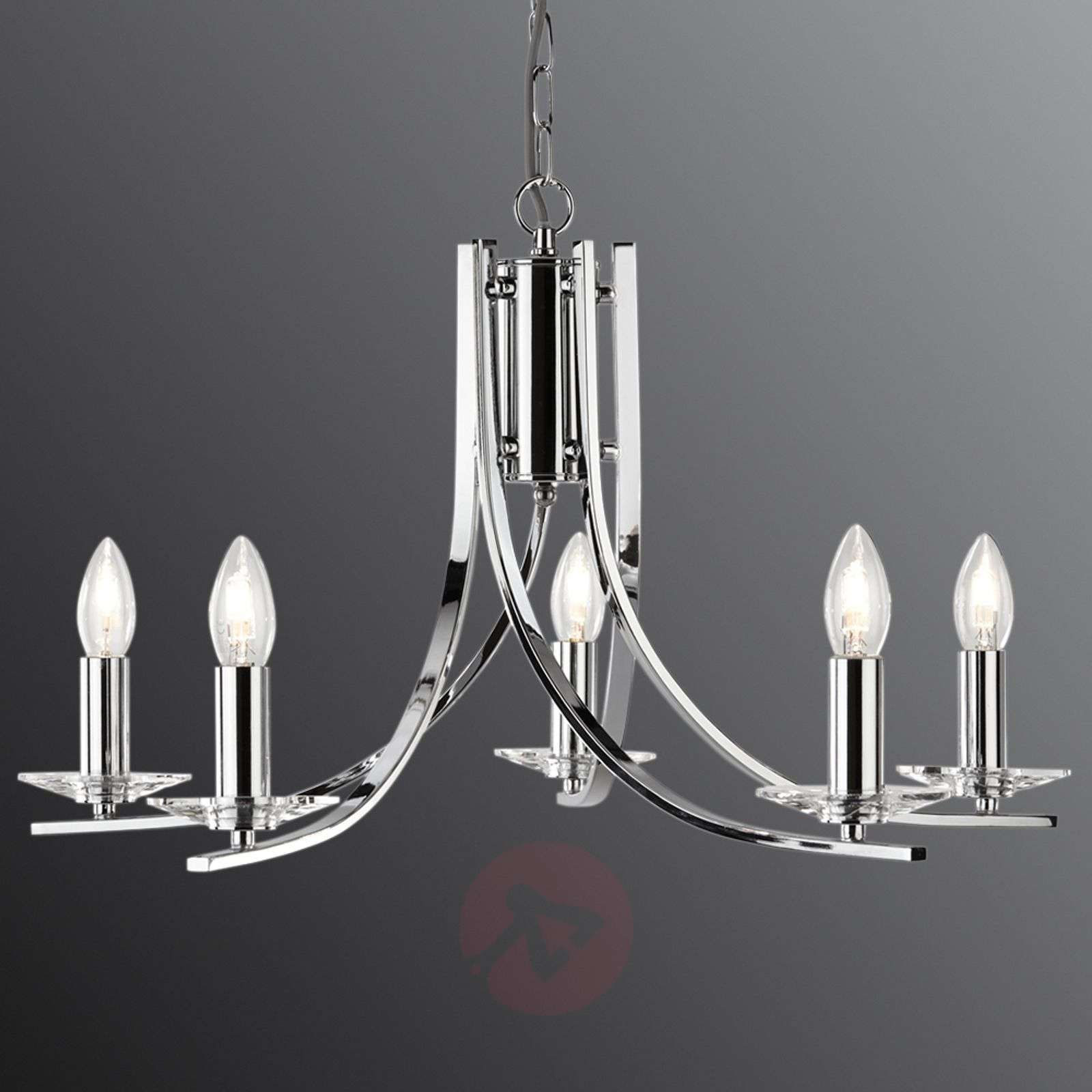 Elegant 5-bulb Ascona chrome hanging light-8570907-01
