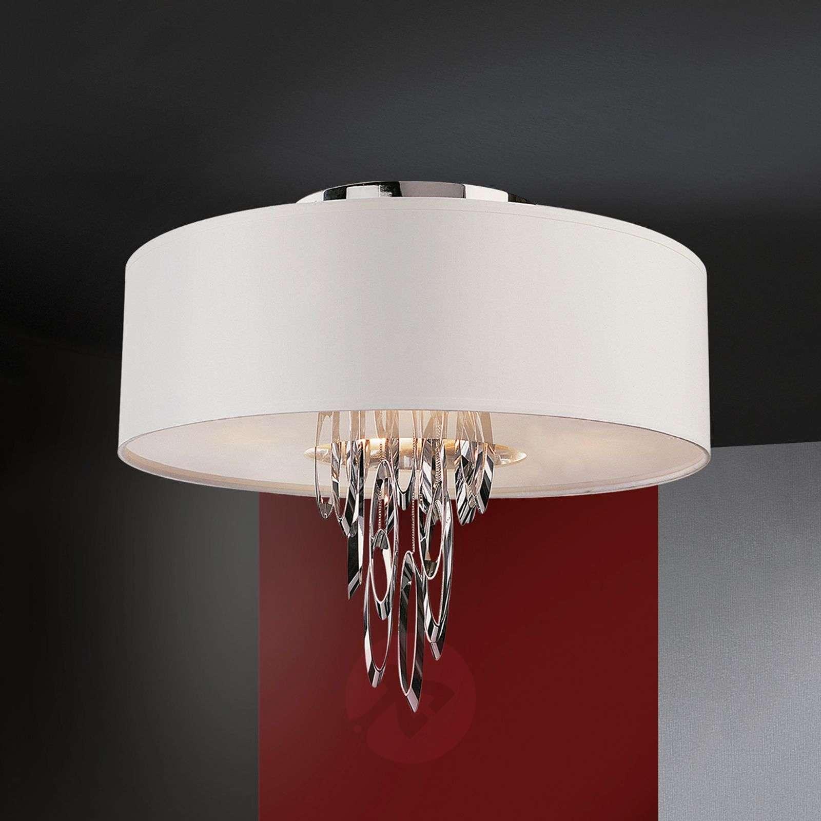 Elegant fabric ceiling light domo lights elegant fabric ceiling light domo 8582245 01 mozeypictures Choice Image
