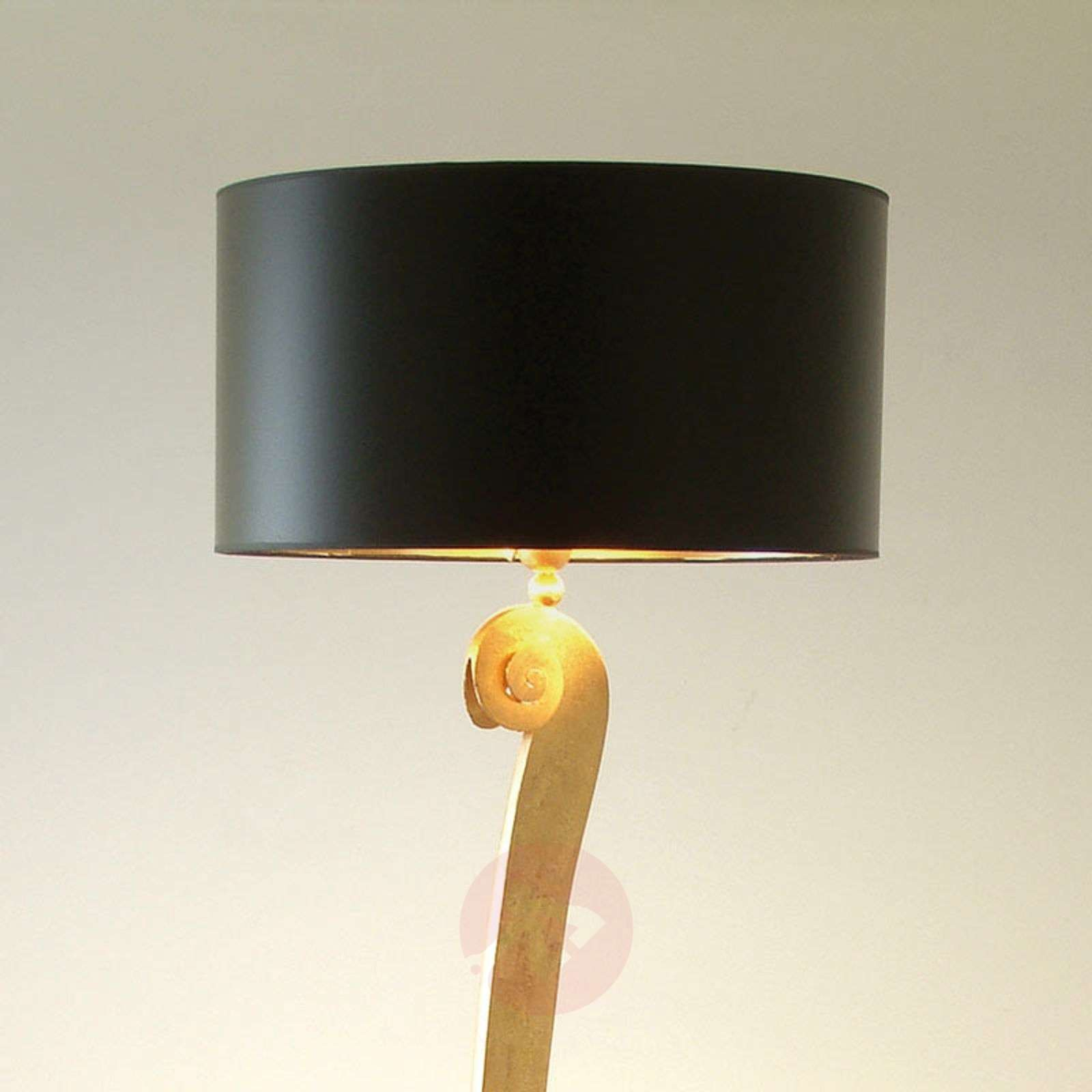 Elegant floor lamp LORGOLIOSO in gold-black-4512120-01