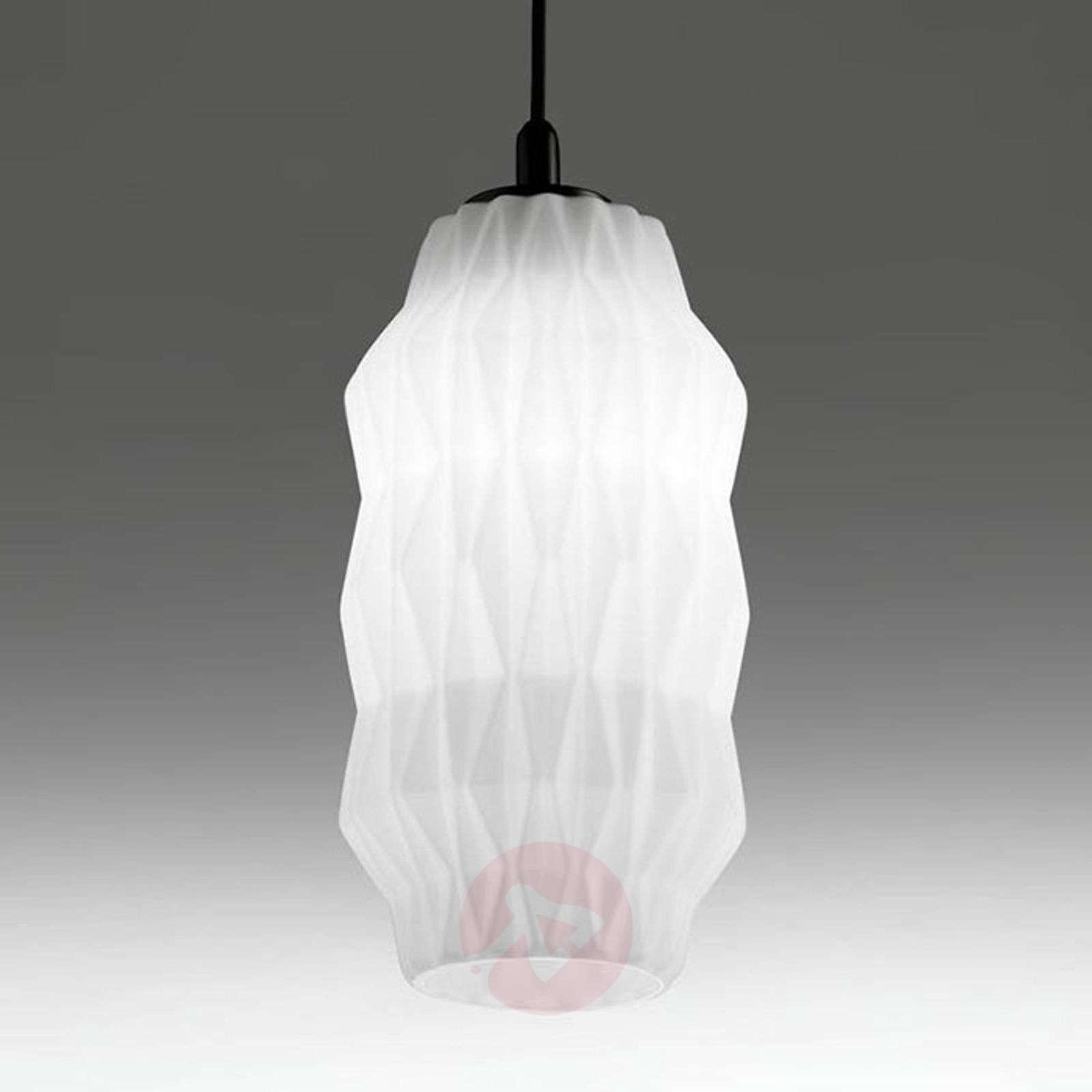Elegant Gl Pendant Light Origami White