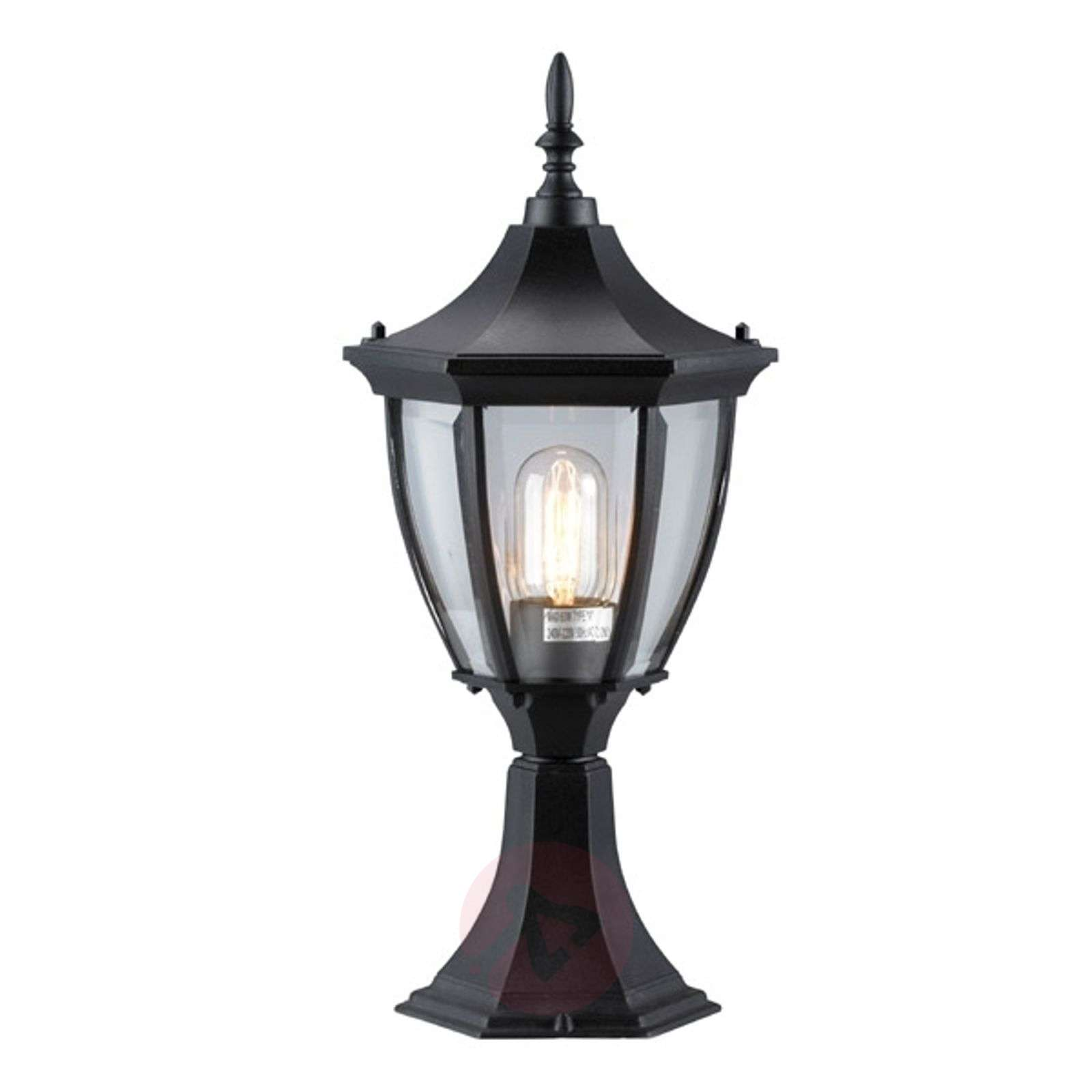 Elegant Jonna pillar light, black-6506050-01