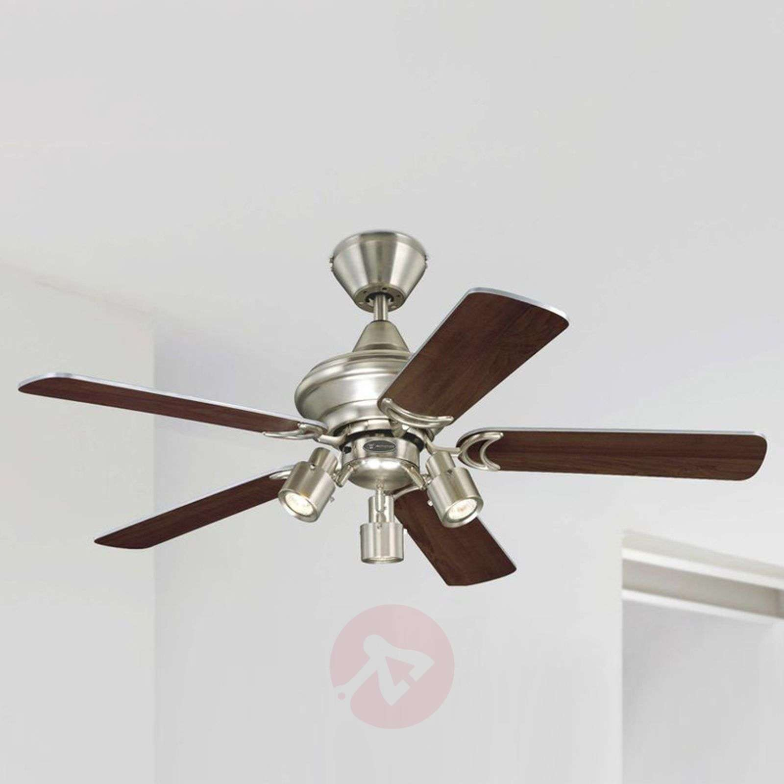Elegant Kingston ceiling fan, two-colour blades-9602010-02