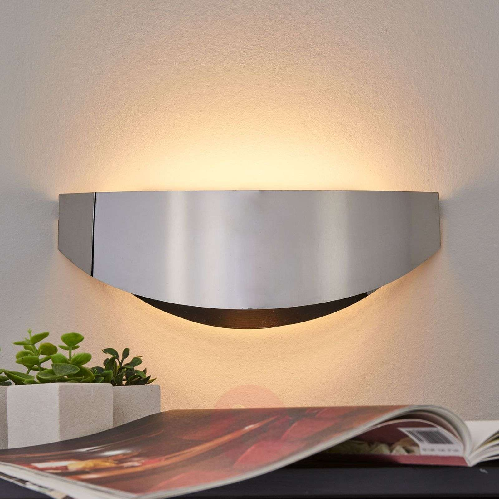 Elegant LED wall light Hailey in chrome-9633031-01