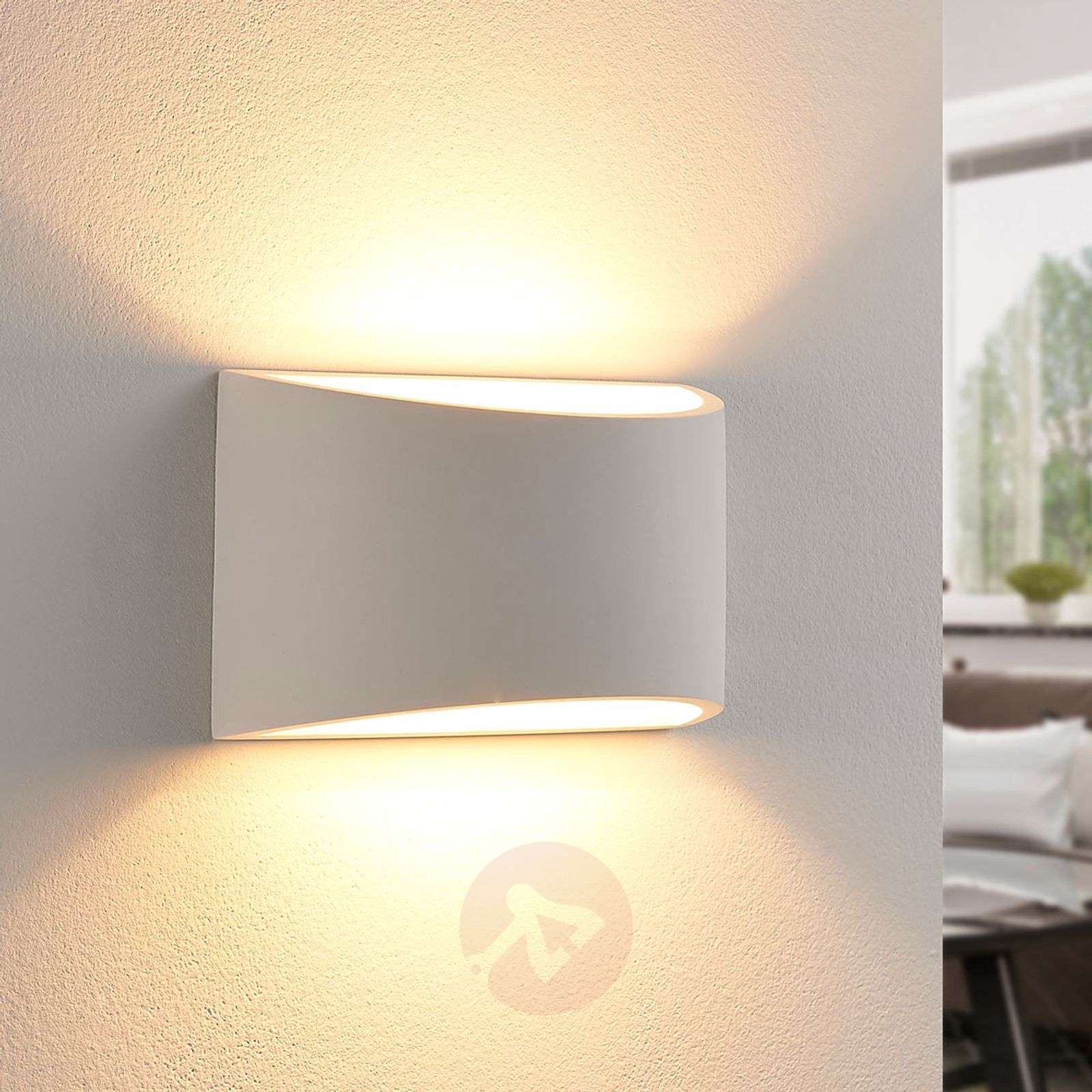 Elegant LED wall light Heiko made from plaster-9621352-02