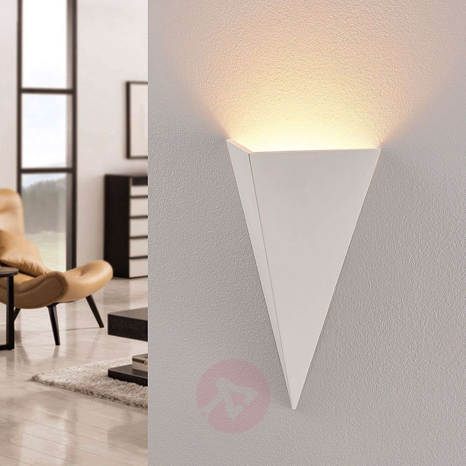 Elegant plaster wall uplighter Luino in white-9624252-02