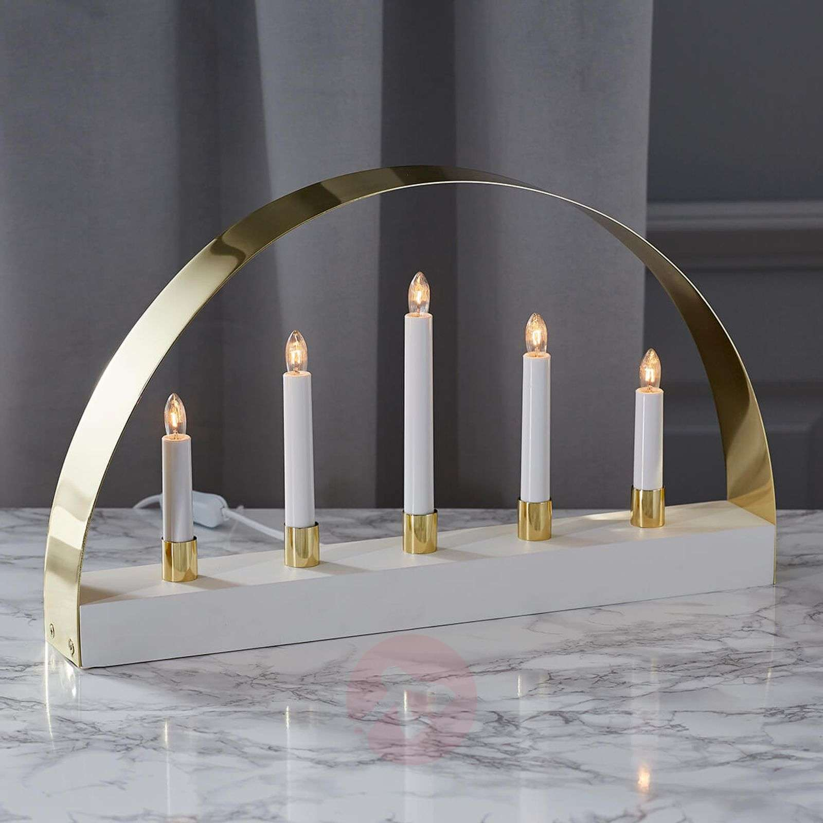 Elegantly designed candleholder Noble white-1523284-01