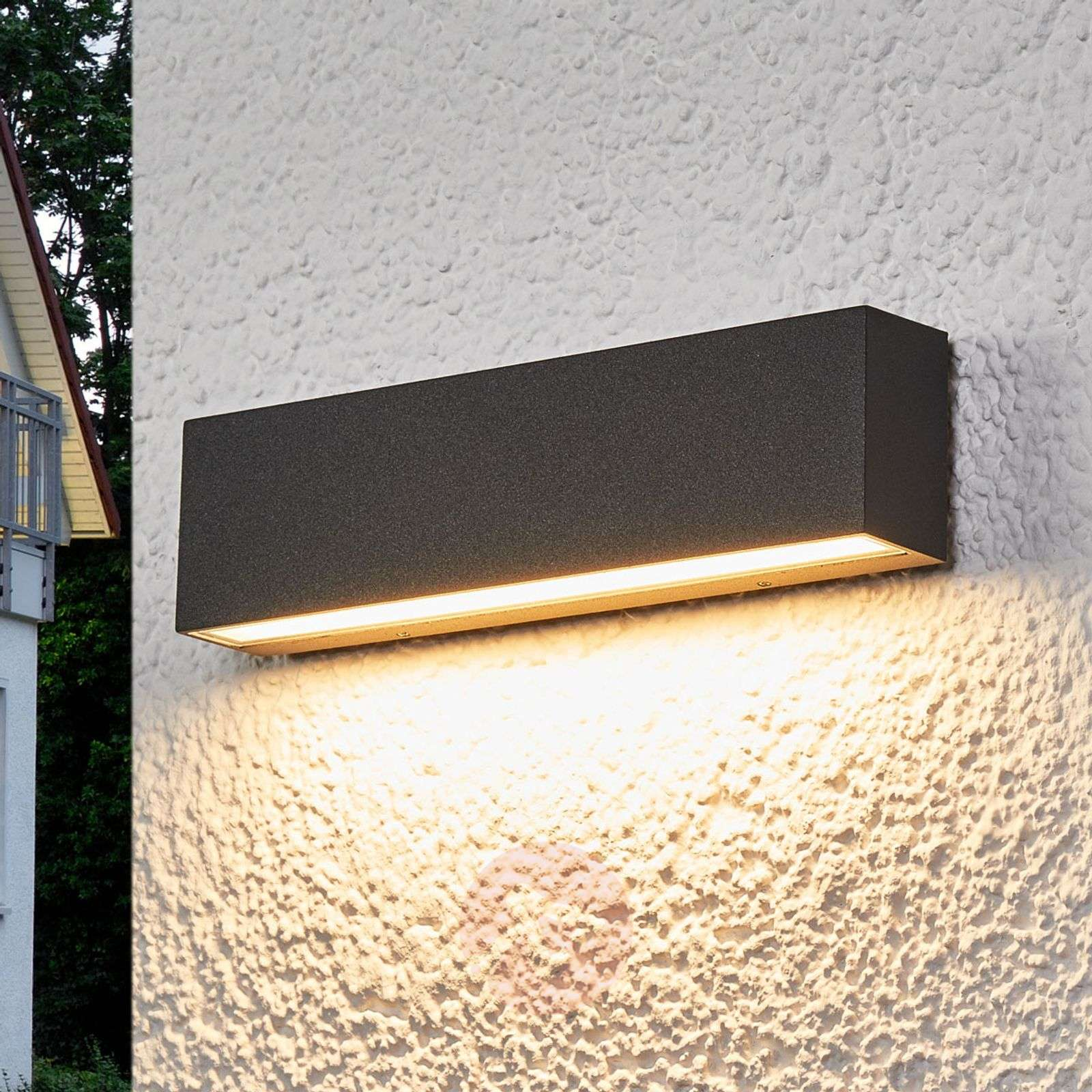 Elvira graphite-grey IP65 LED outdoor wall lamp-9616097-02