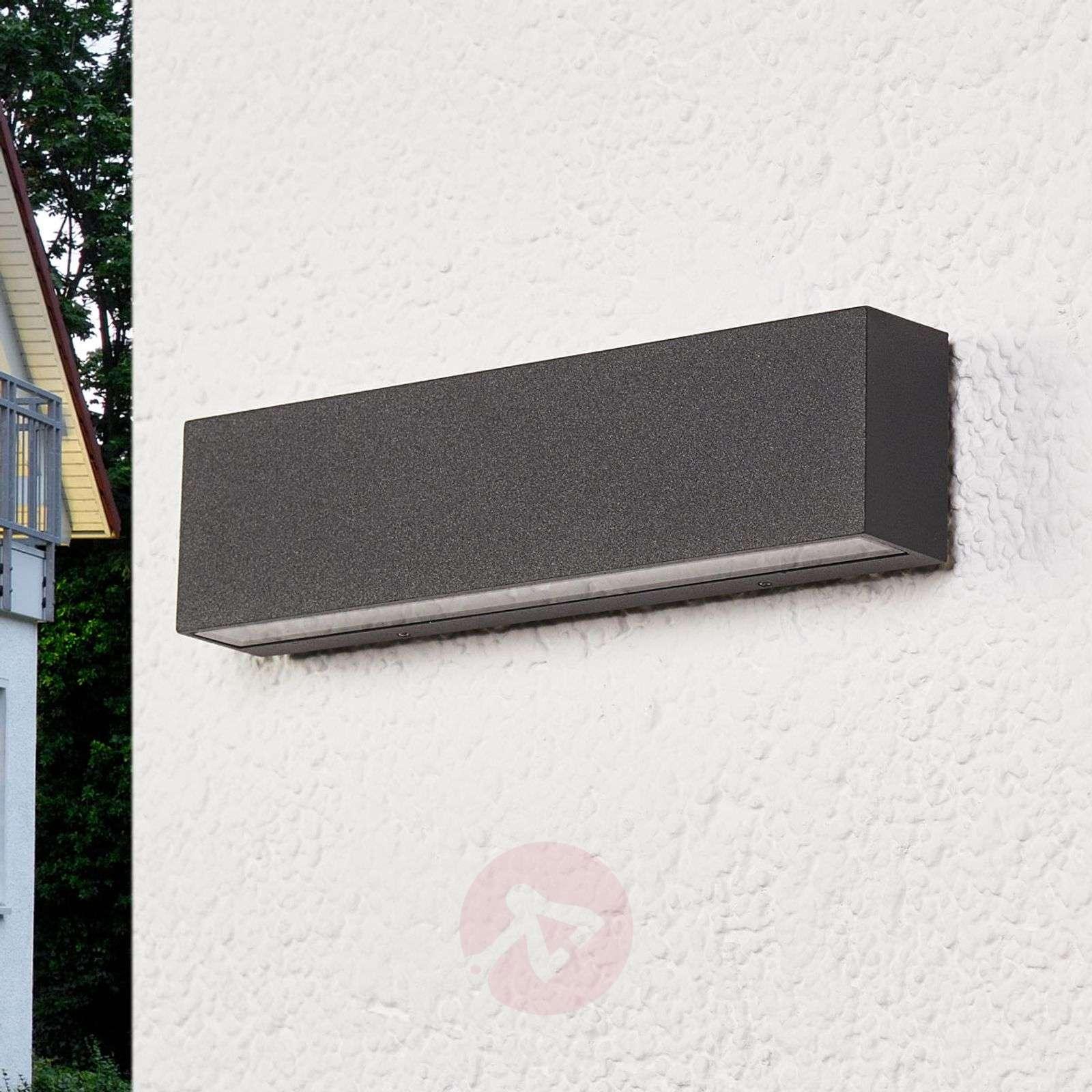 Elvira graphite-grey IP65 LED outdoor wall lamp-9616097-02