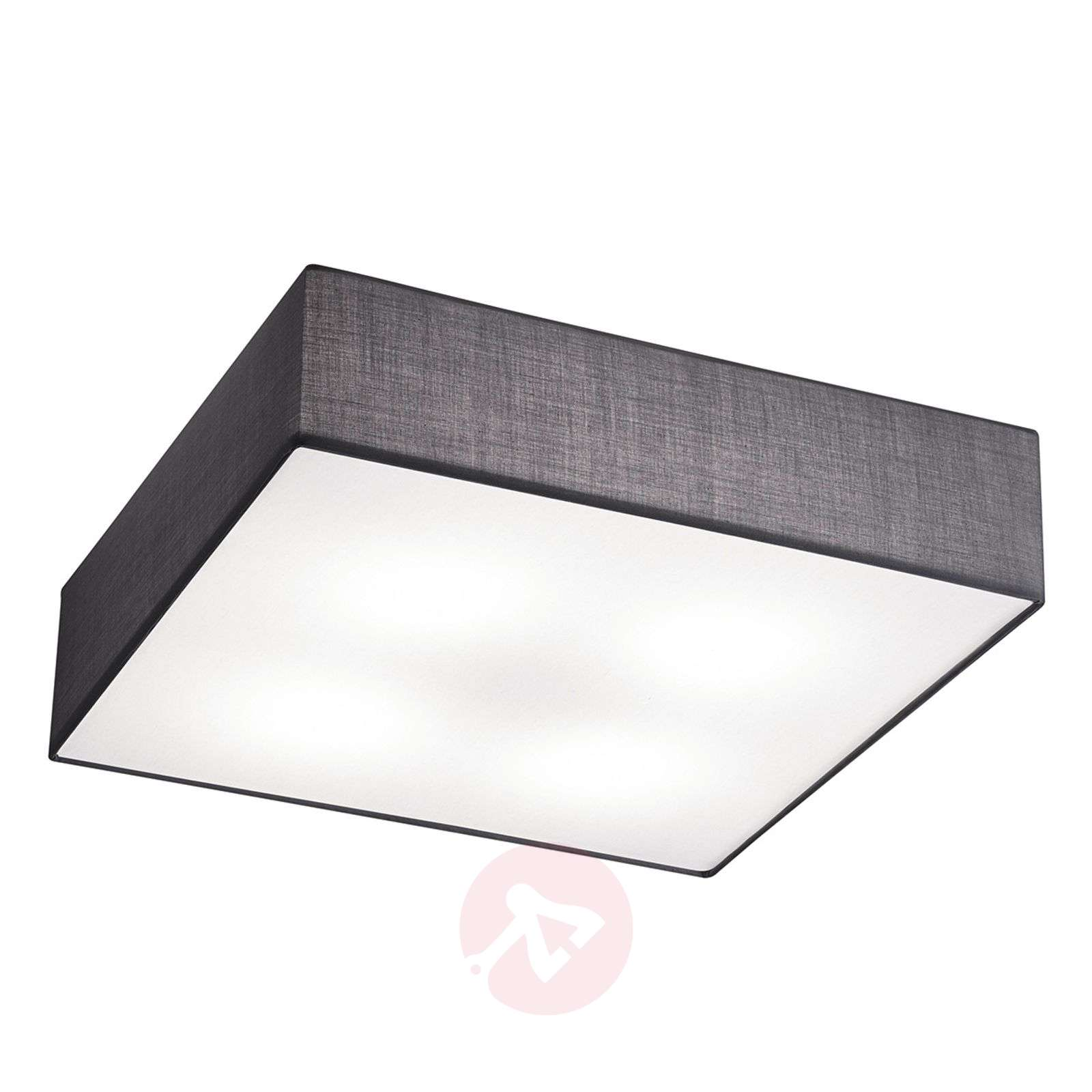 Embassy square ceiling light made of fabric-9004785-01
