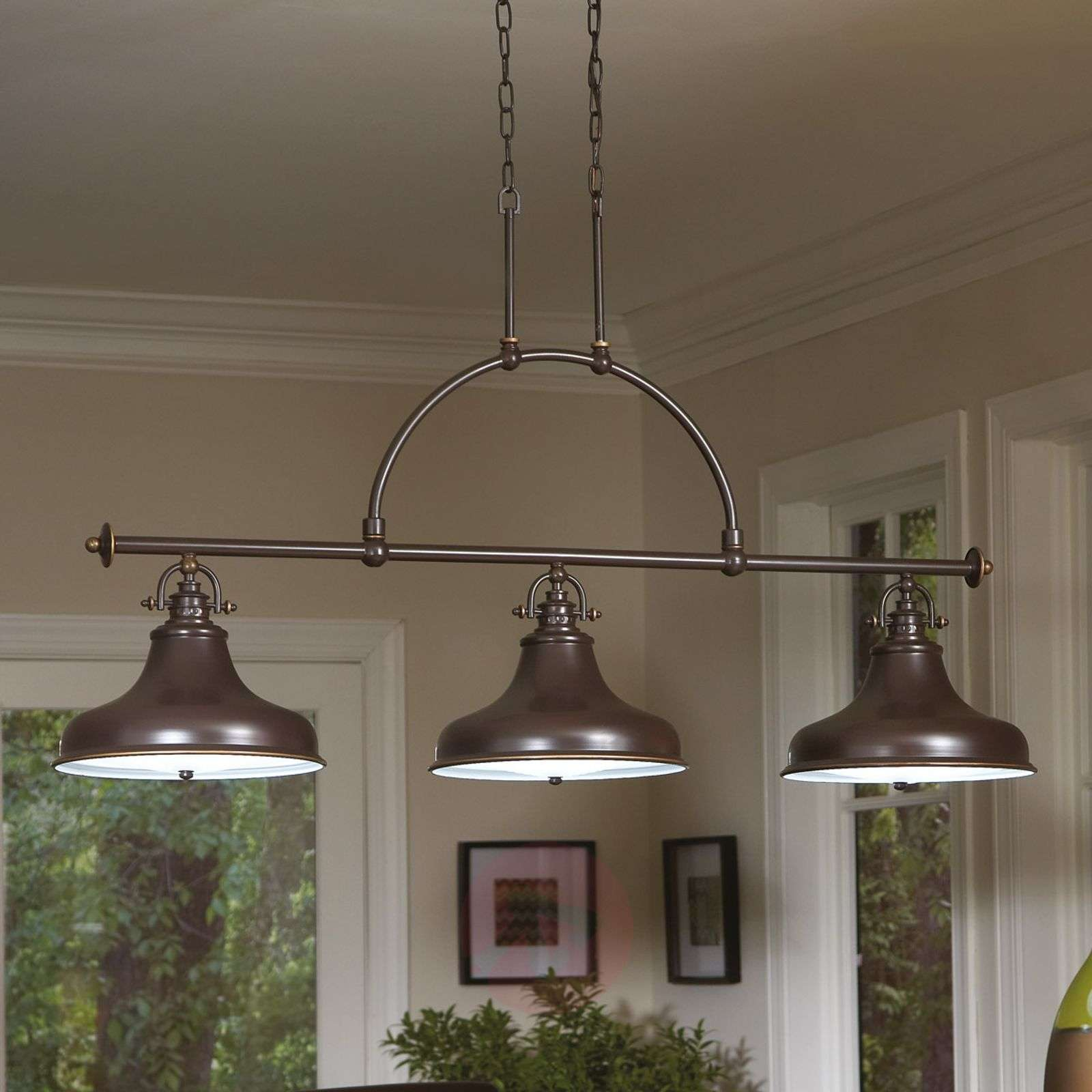Emery Pendant Lamp Bronze 3 Bulb