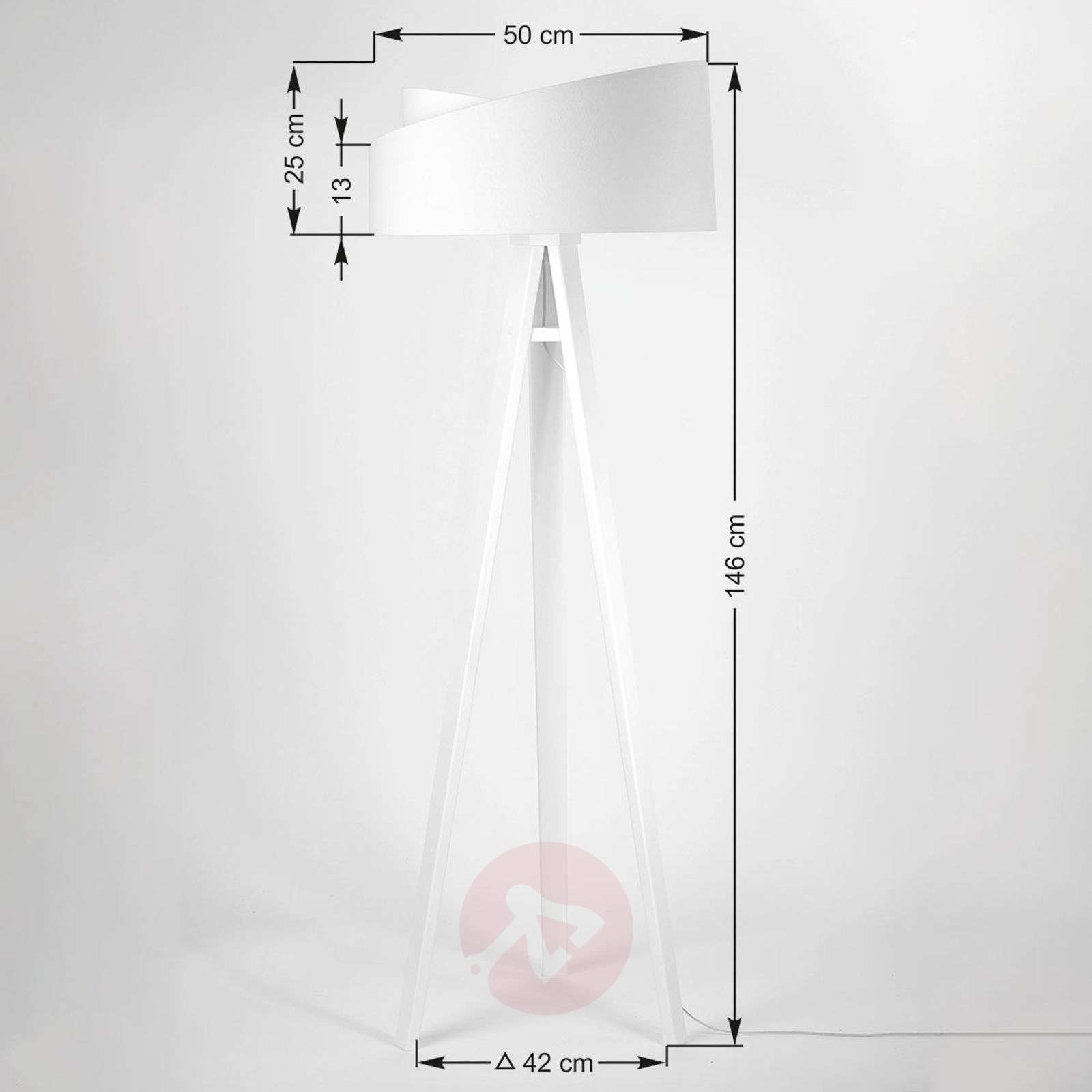 Emi tripod floor lamp with a 2-coloured lampshade-6728031-01