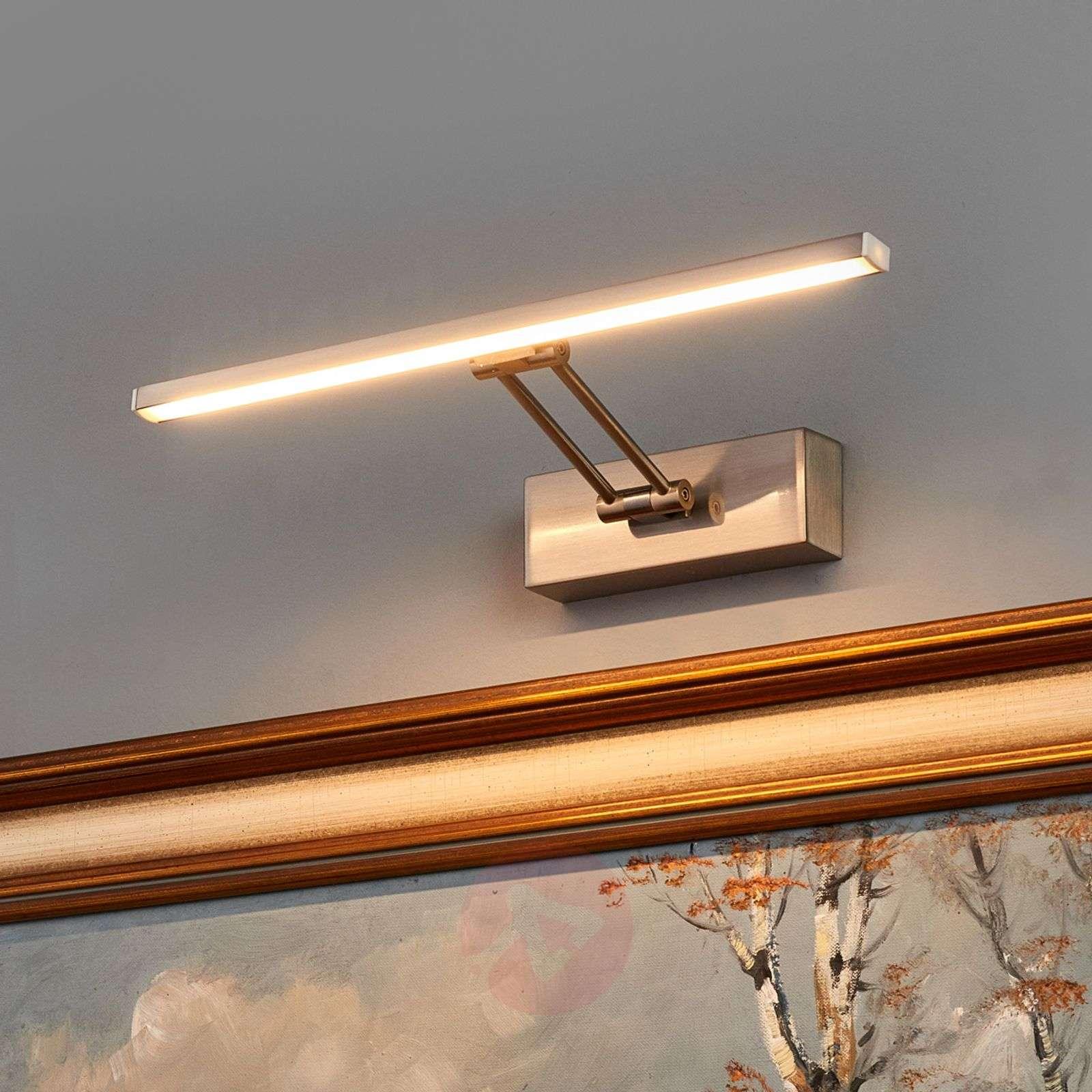 Emilias LED picture light, matt nickel, 35cm-9644080-01