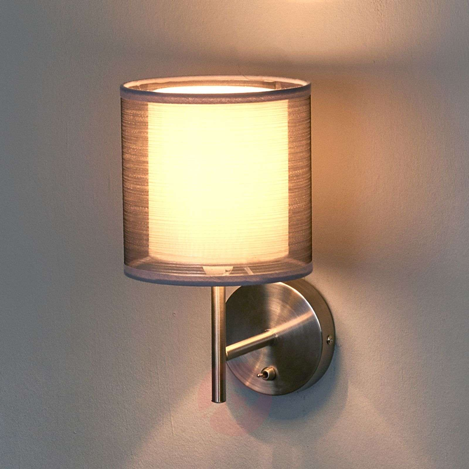 Enchanting Nica fabric wall light in grey-4018015-02