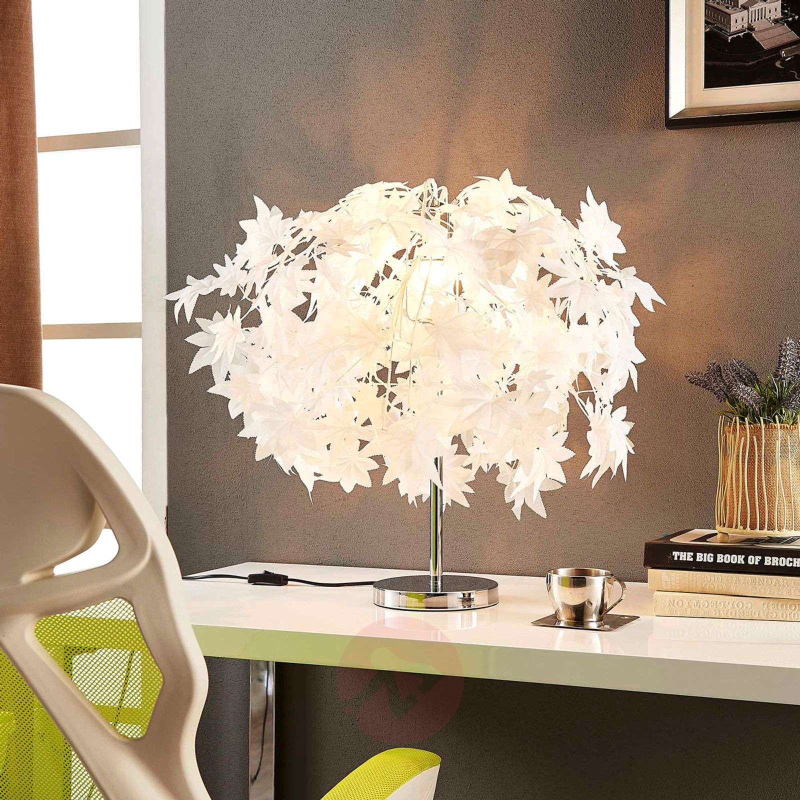 Enchanting table lamp Maple with leafy forest-9621119-020