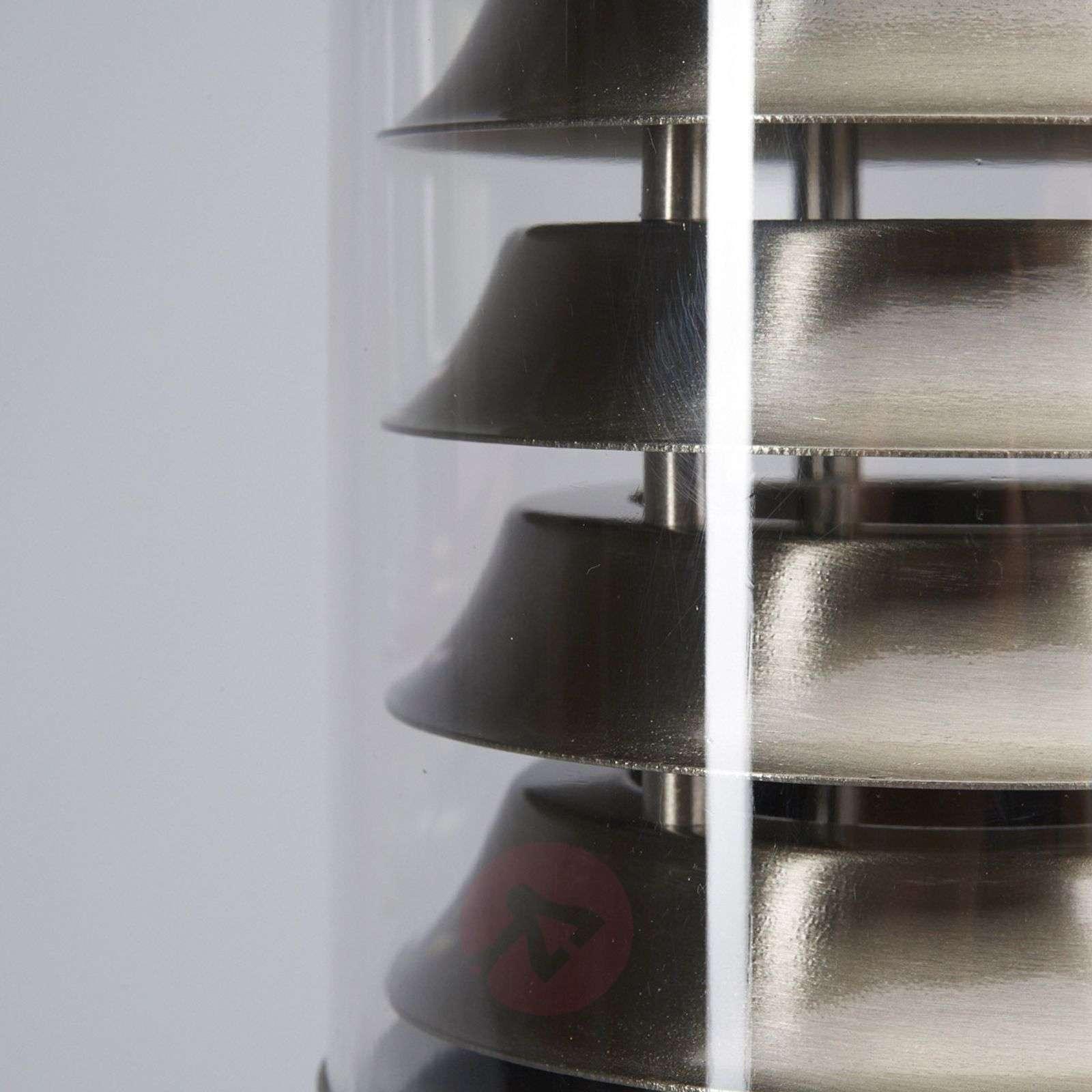 Enja Stainless Steel Pillar Lamp with Fins-9960023-01