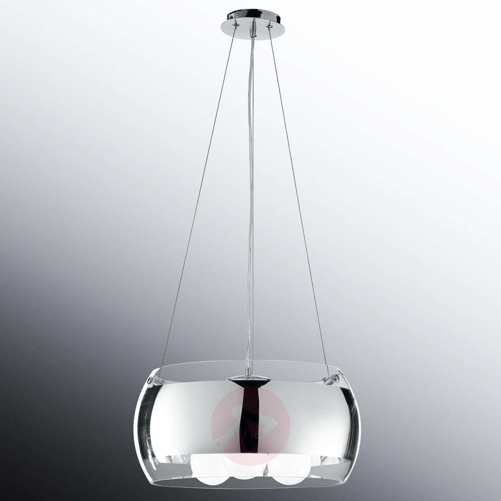 Equatore elegant pendant light, glass lampshade-3006584-010