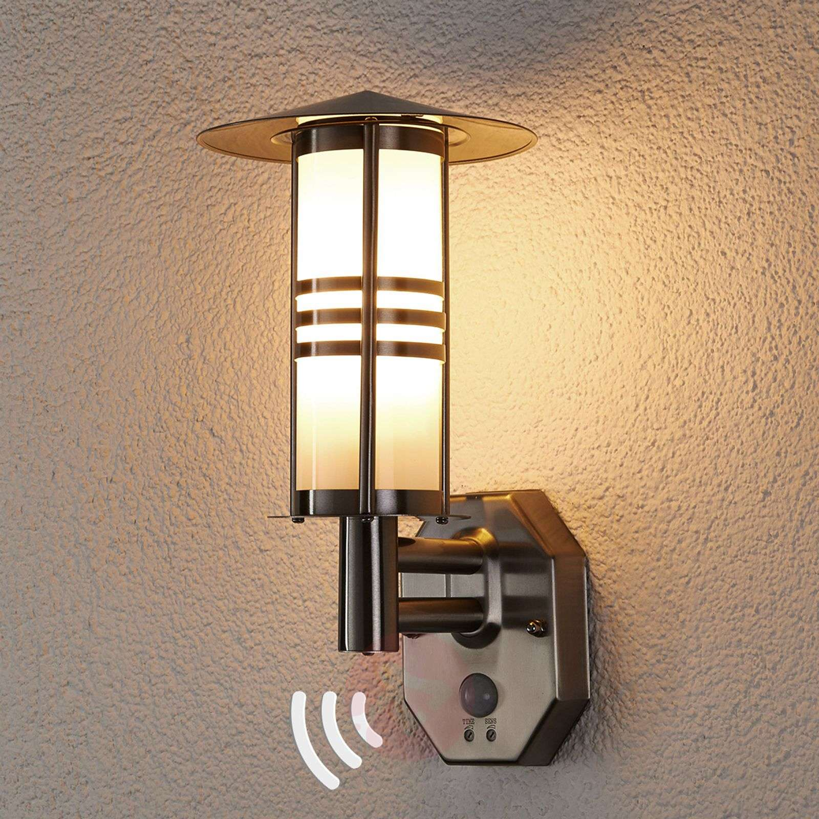 Led Outdoor Wall Light Lanea With Motion Sensor - Outdoor Designs